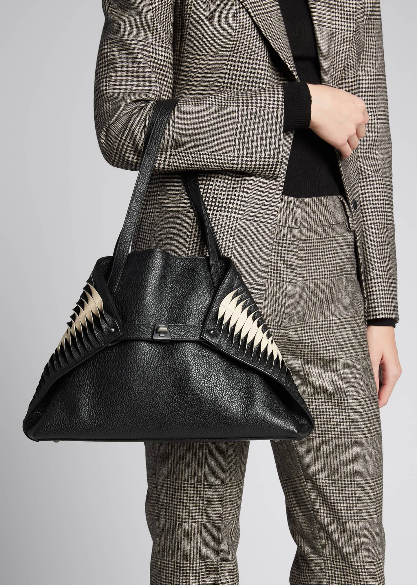 Image 2 of 5: Ai Small Pleats Shoulder Tote Bag