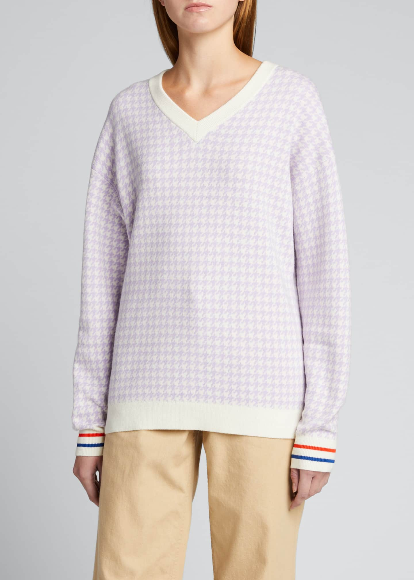 Image 3 of 5: The Tracy Houndstooth Sweater