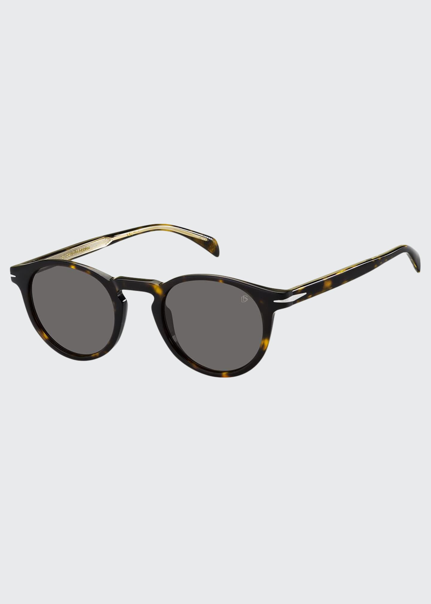 Image 1 of 1: Men's Round Acetate Sunglasses