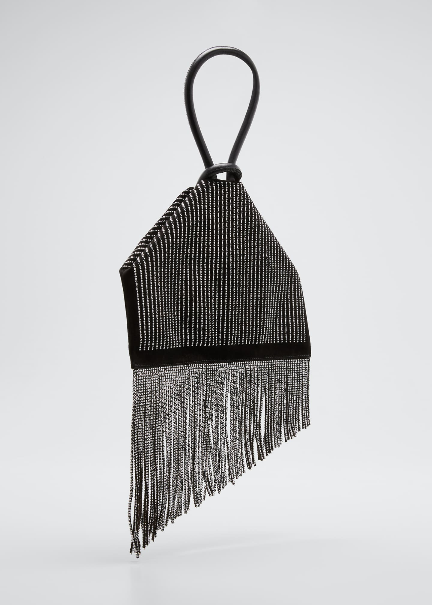 Image 3 of 5: Berlinguinio Strass Fringed Suede Clutch Bag