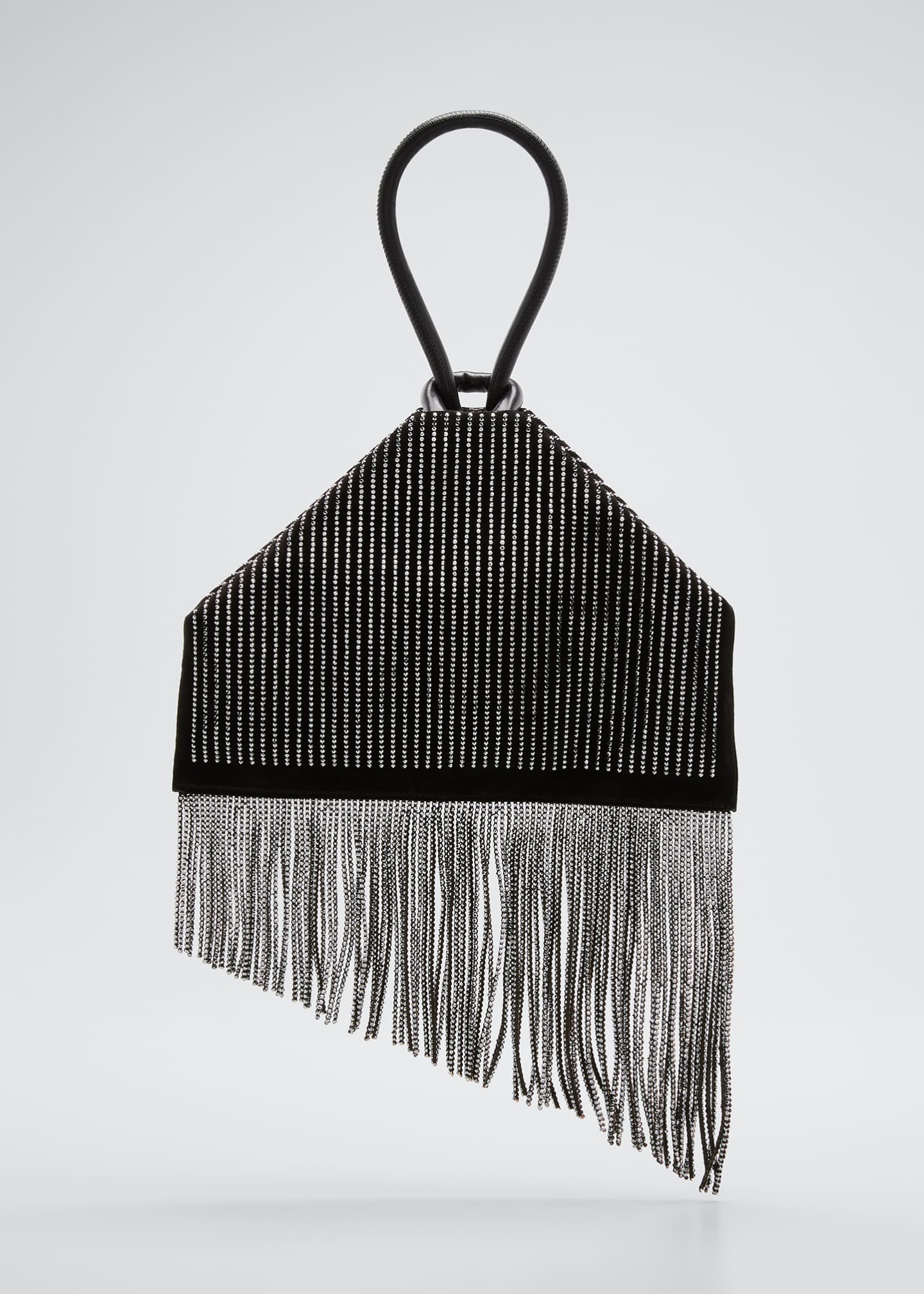 Image 1 of 5: Berlinguinio Strass Fringed Suede Clutch Bag