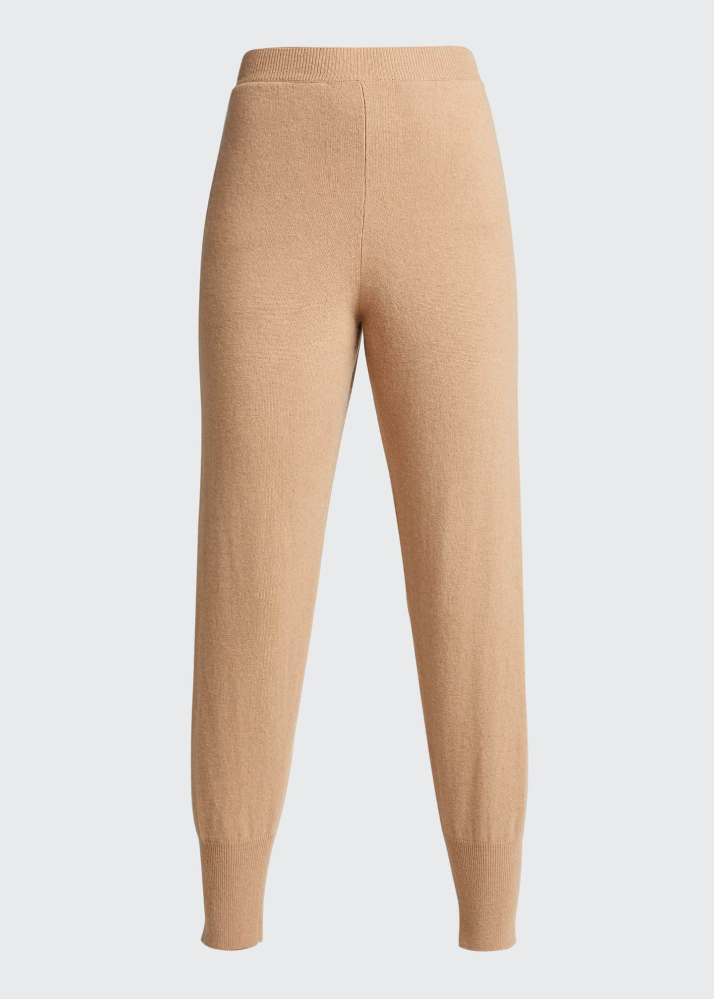 Image 5 of 5: Cashmere-Wool Ribbed Tapered Trousers