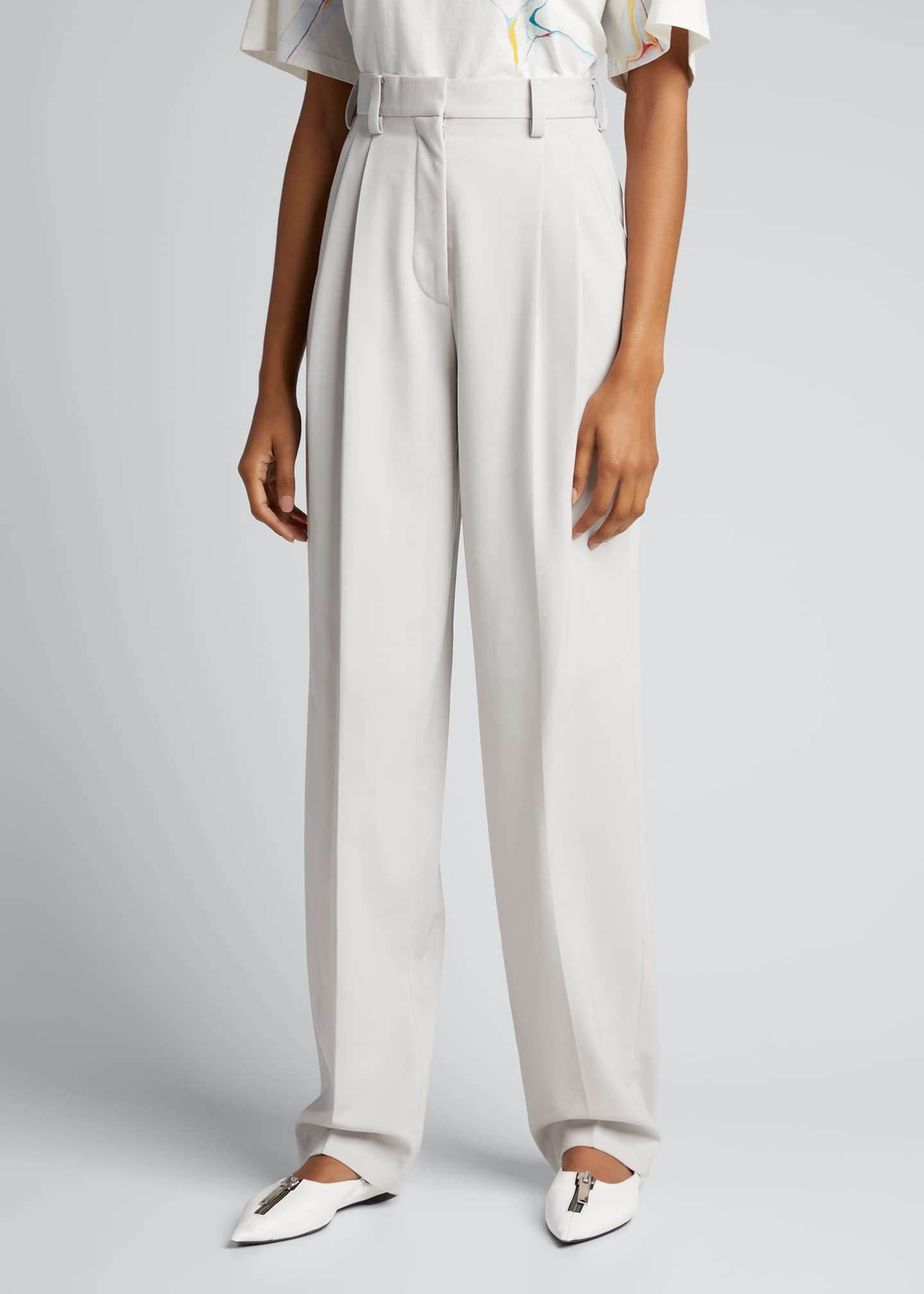 Image 3 of 5: Louise Loose-Fit Wool Trousers