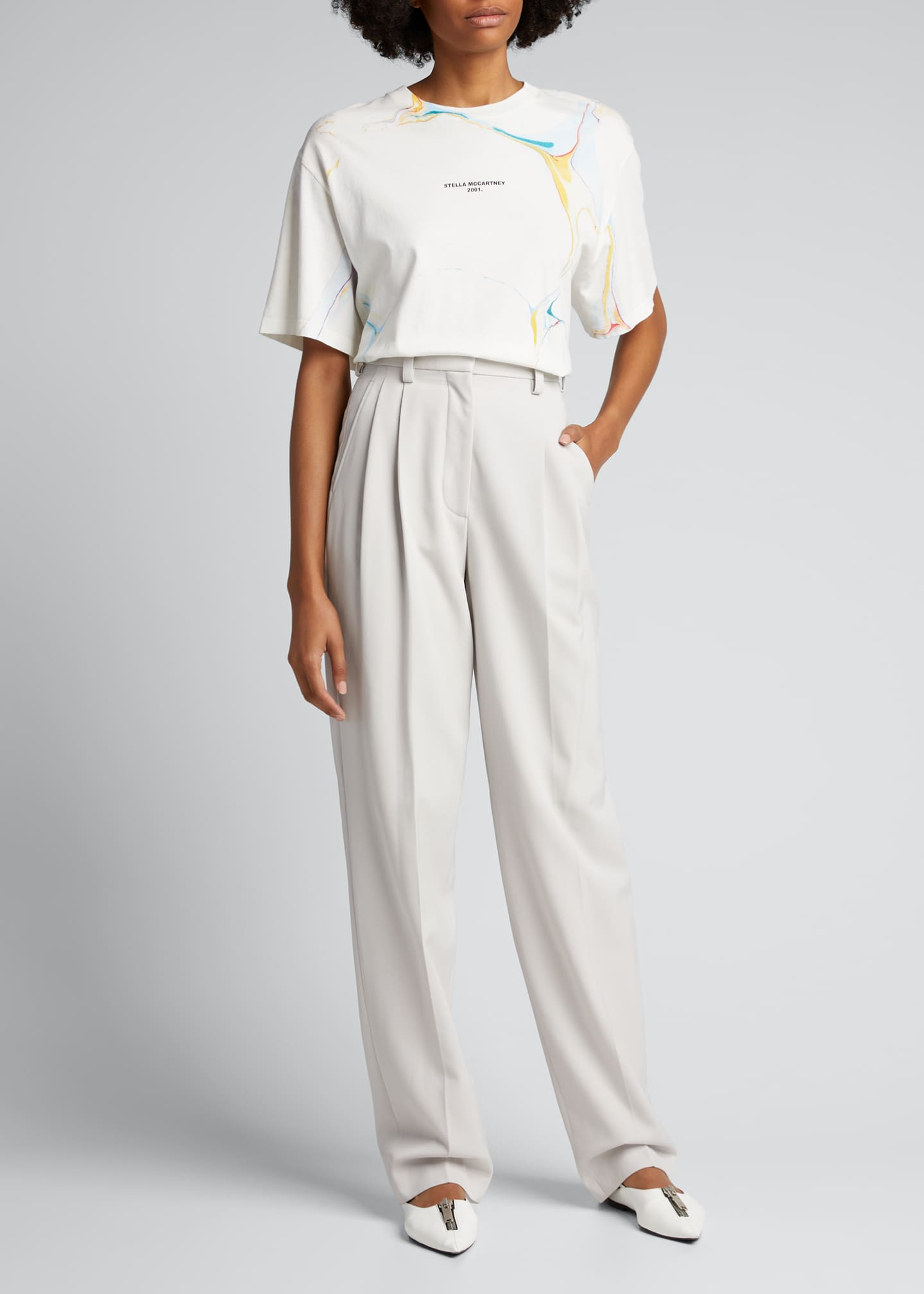 Image 1 of 5: Louise Loose-Fit Wool Trousers