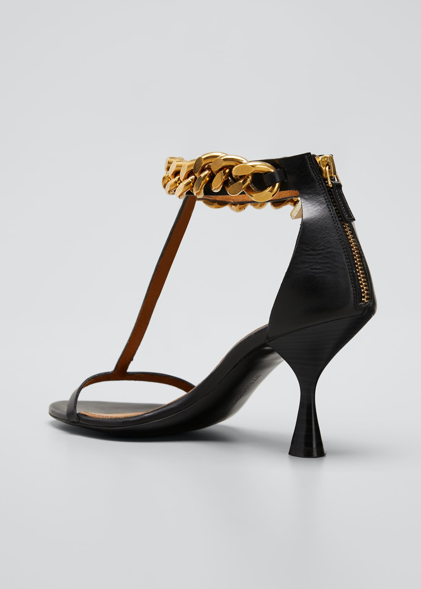 Image 4 of 5: Falabella Chain T-Strap Sandals