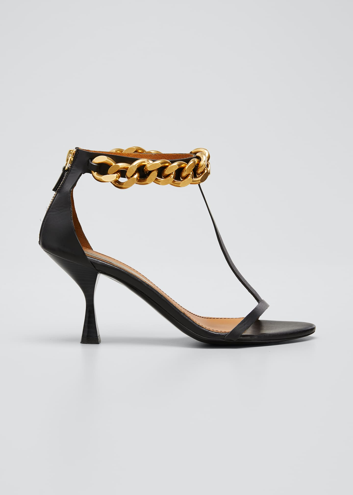 Image 1 of 5: Falabella Chain T-Strap Sandals