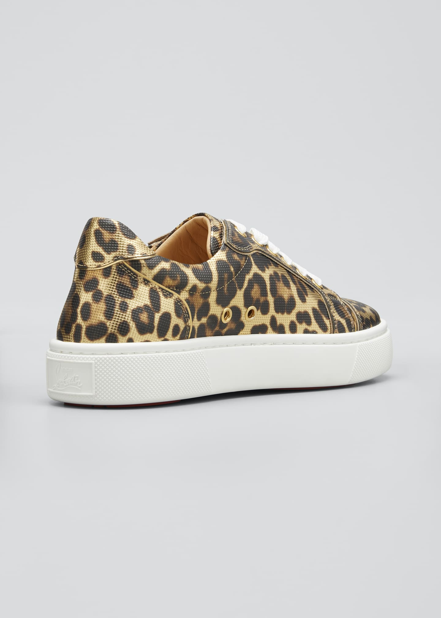 Image 2 of 3: Vierissima Leopard Red Sole Sneakers