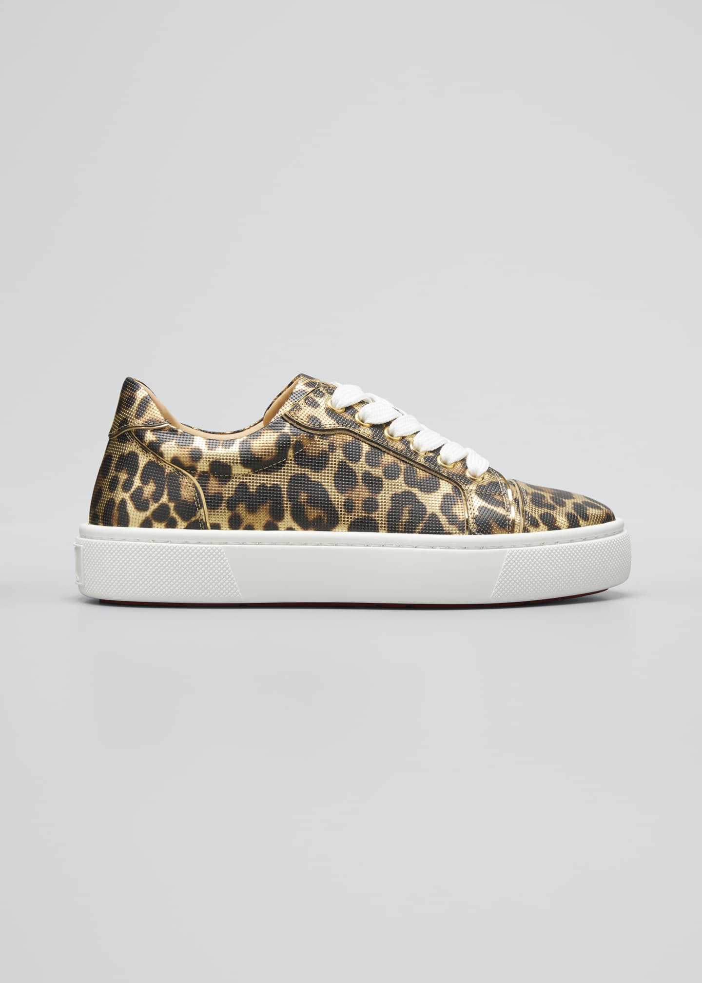 Image 1 of 3: Vierissima Leopard Red Sole Sneakers