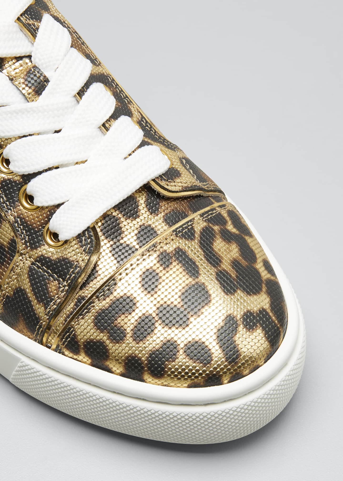 Image 3 of 3: Vierissima Leopard Red Sole Sneakers