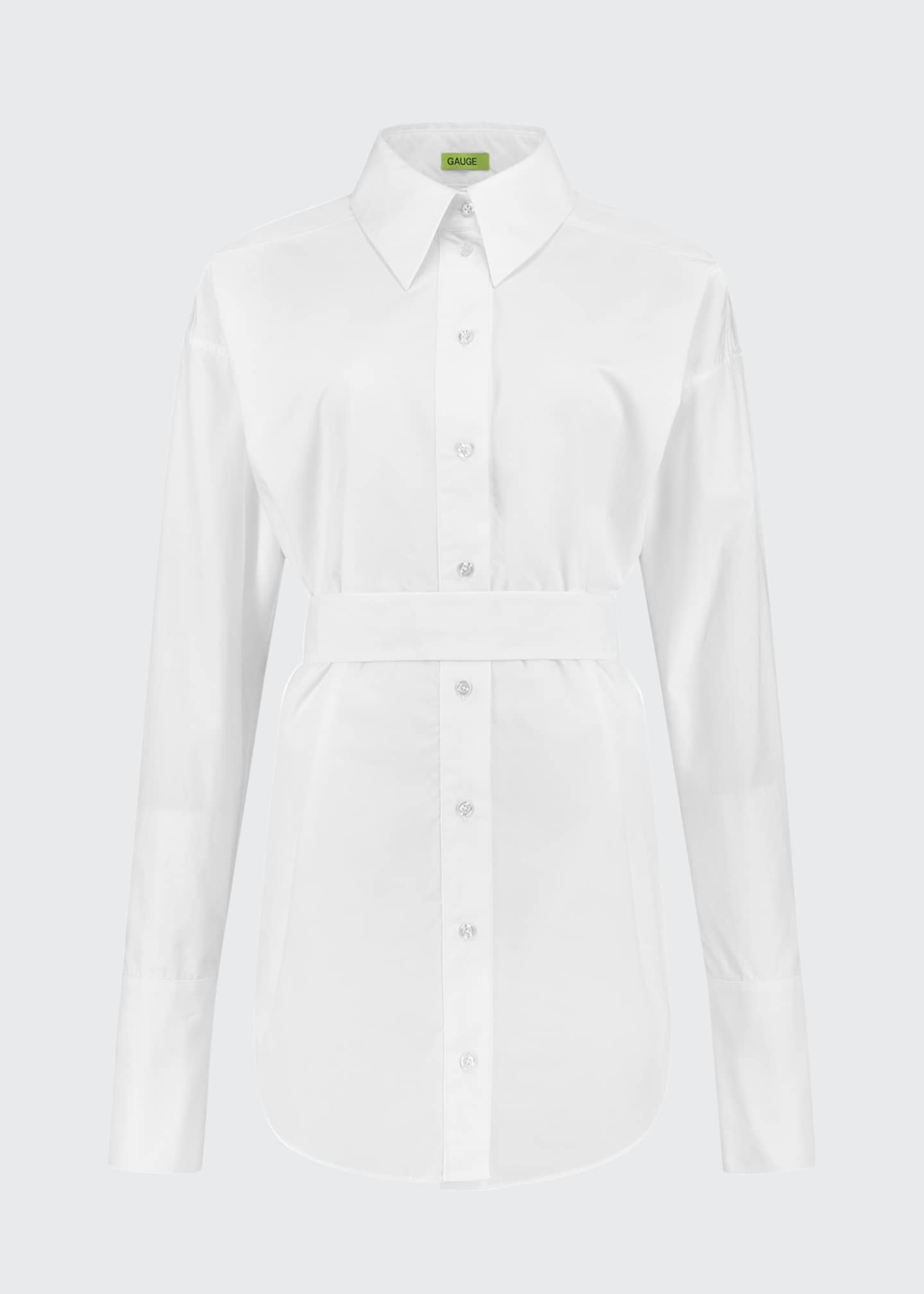 Image 3 of 3: Patras Belted Menswear Shirt Dress