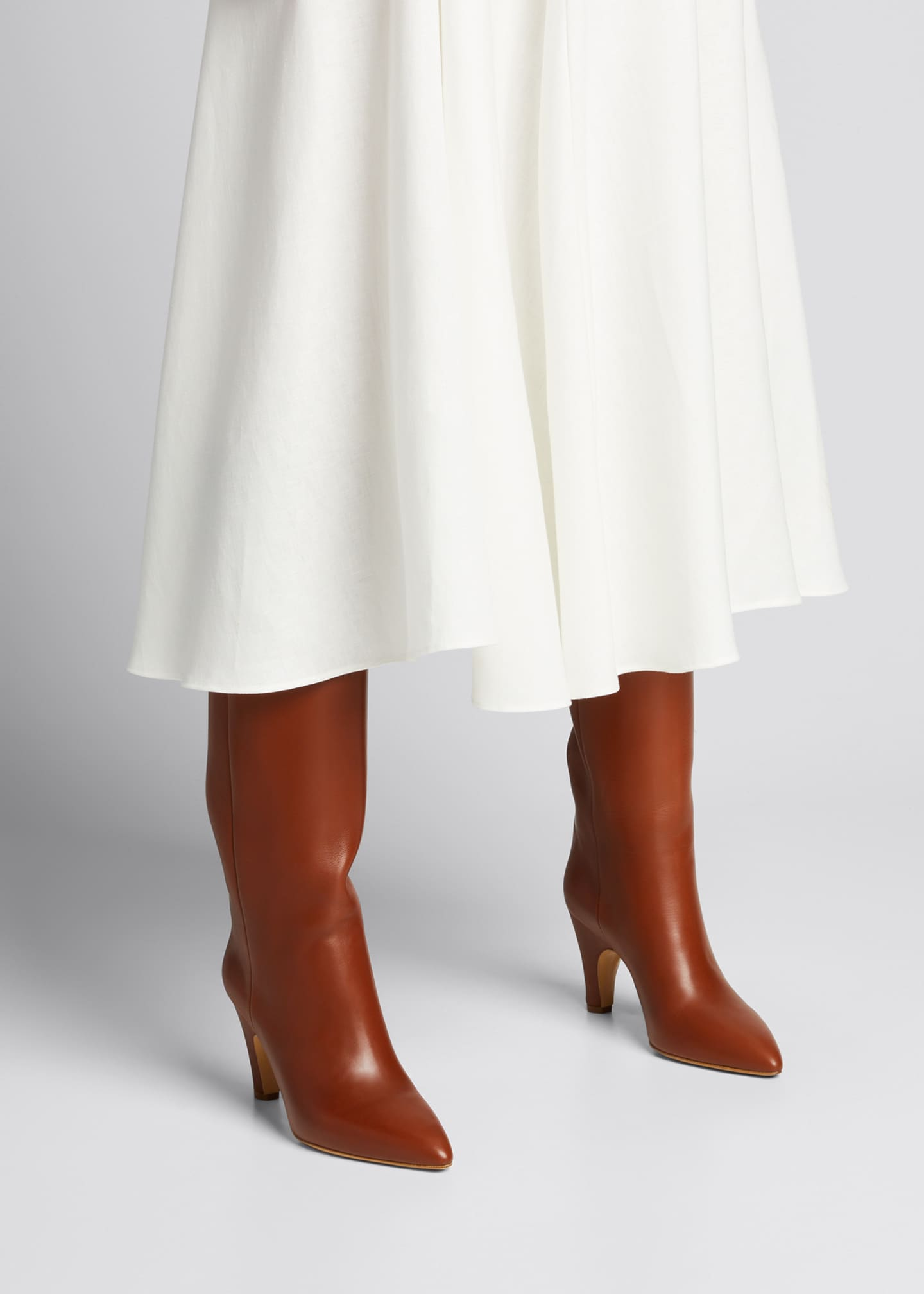 Image 2 of 5: Luther Leather Pull-On Knee Boots