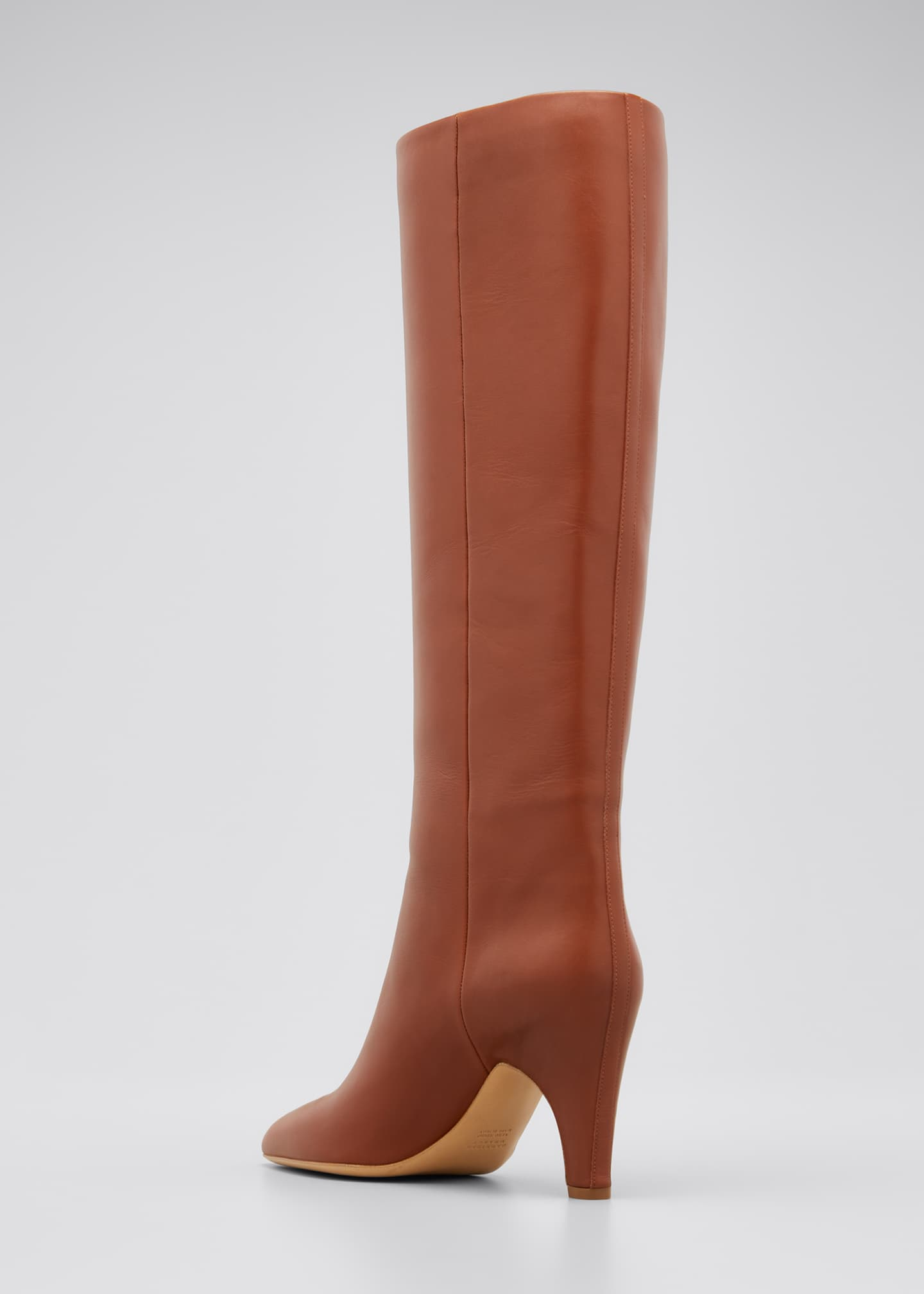 Image 4 of 5: Luther Leather Pull-On Knee Boots