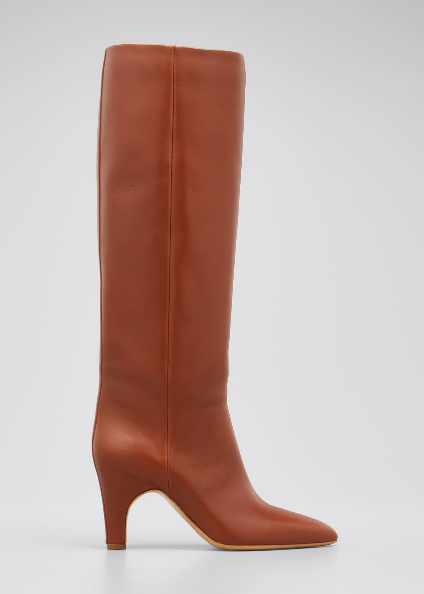 Image 1 of 5: Luther Leather Pull-On Knee Boots