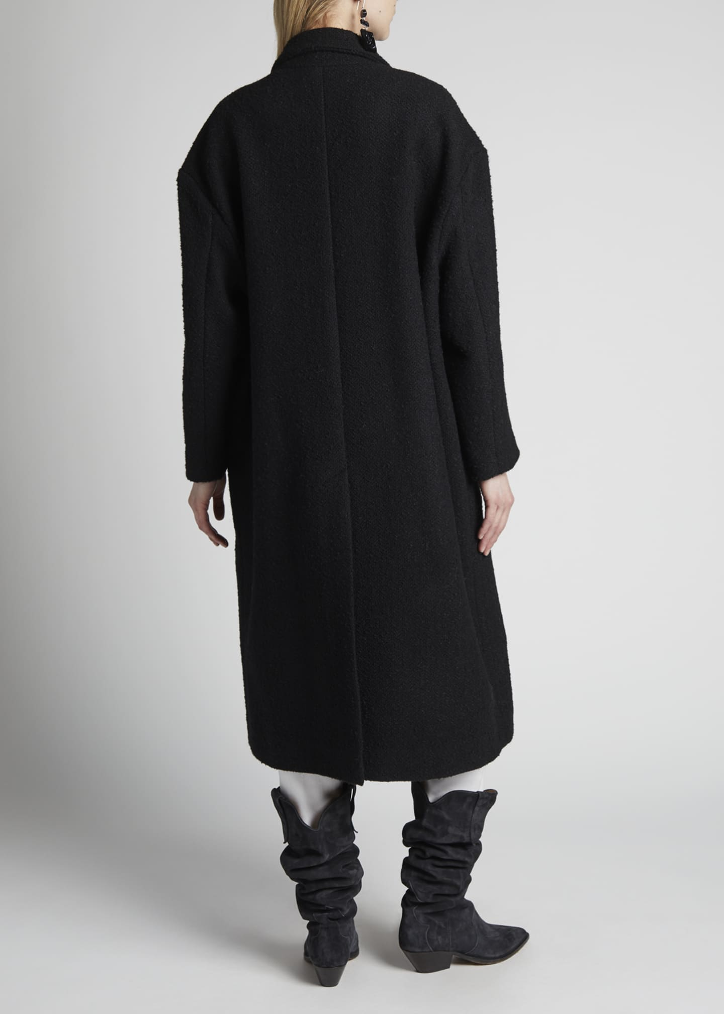 Image 2 of 4: Ojima Wool Double-Breasted Coat
