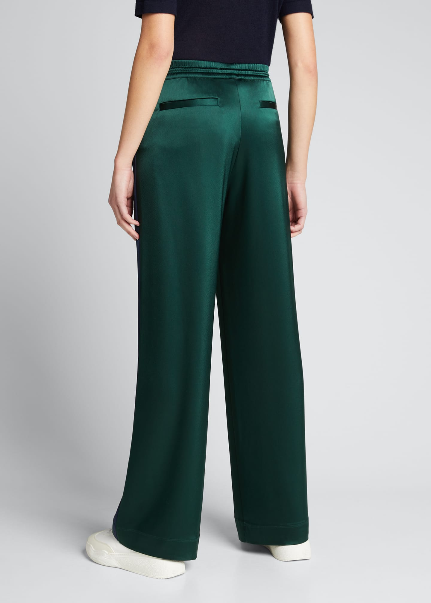 Image 2 of 5: Satin Track Pants