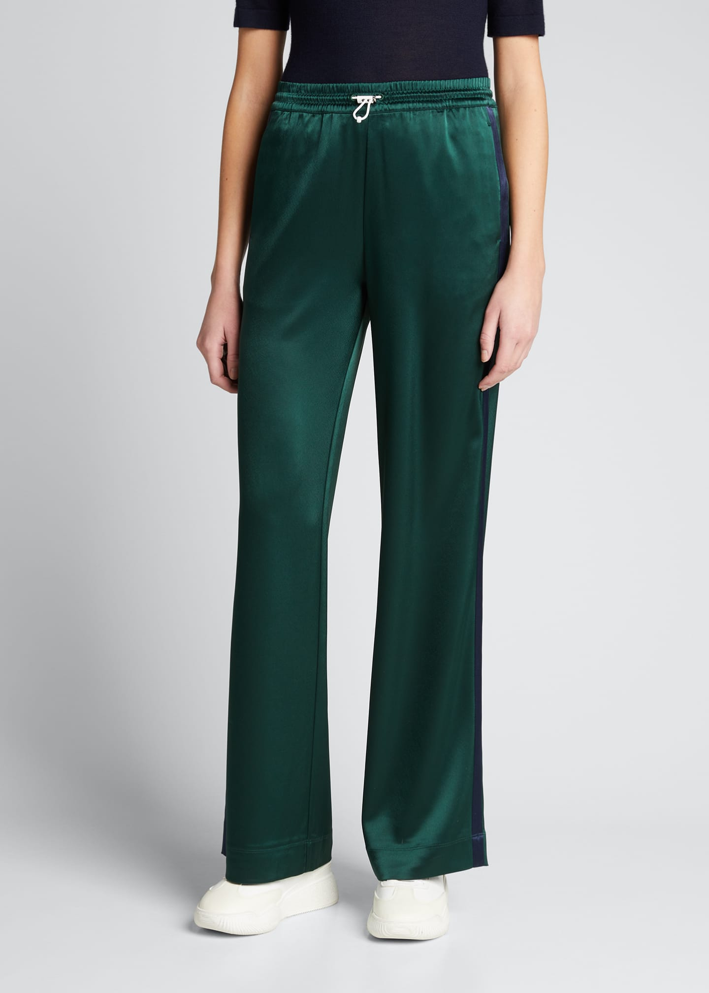 Image 3 of 5: Satin Track Pants