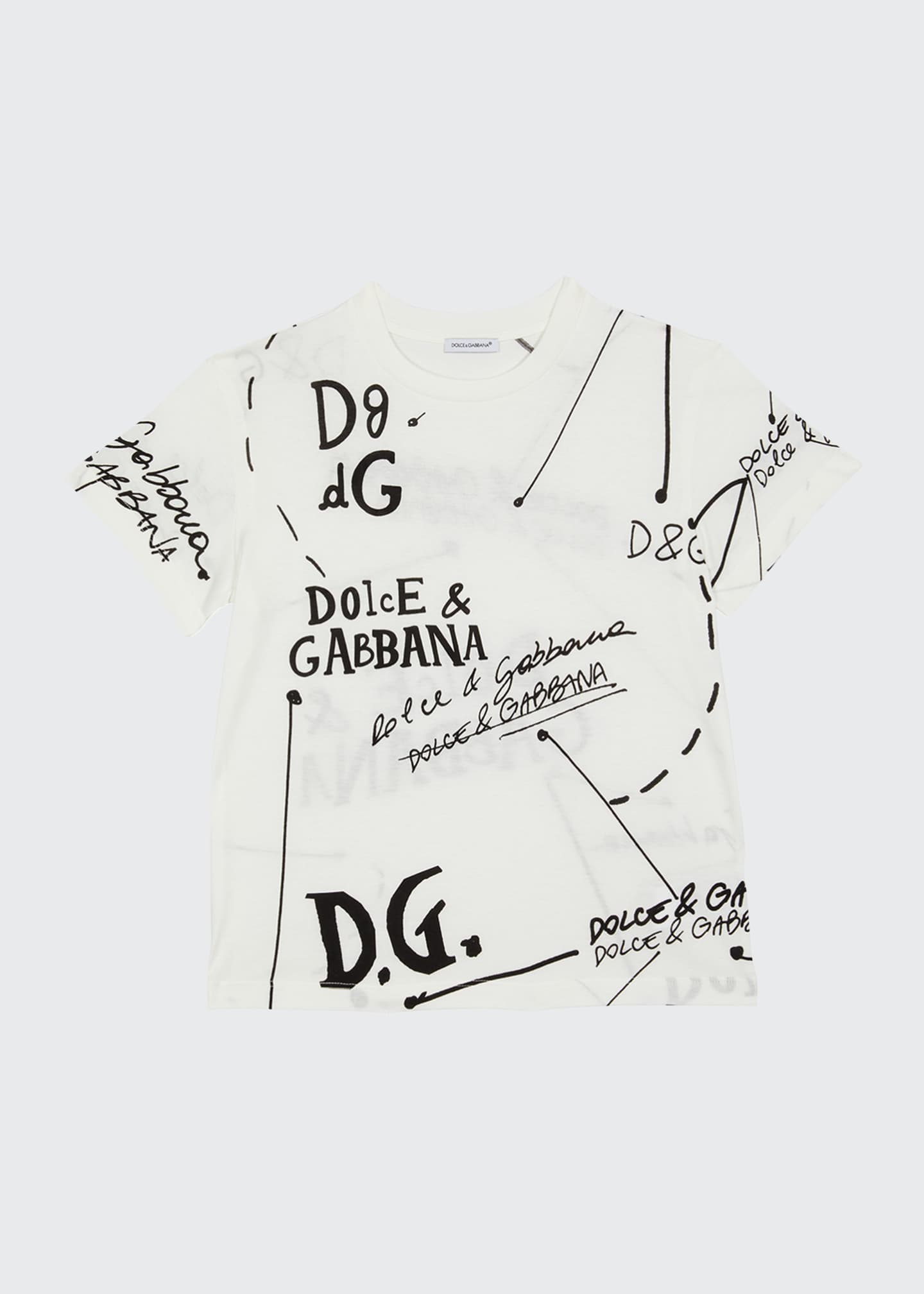 Image 1 of 2: Boy's Logo Script Printed T-Shirt, Size 4-6