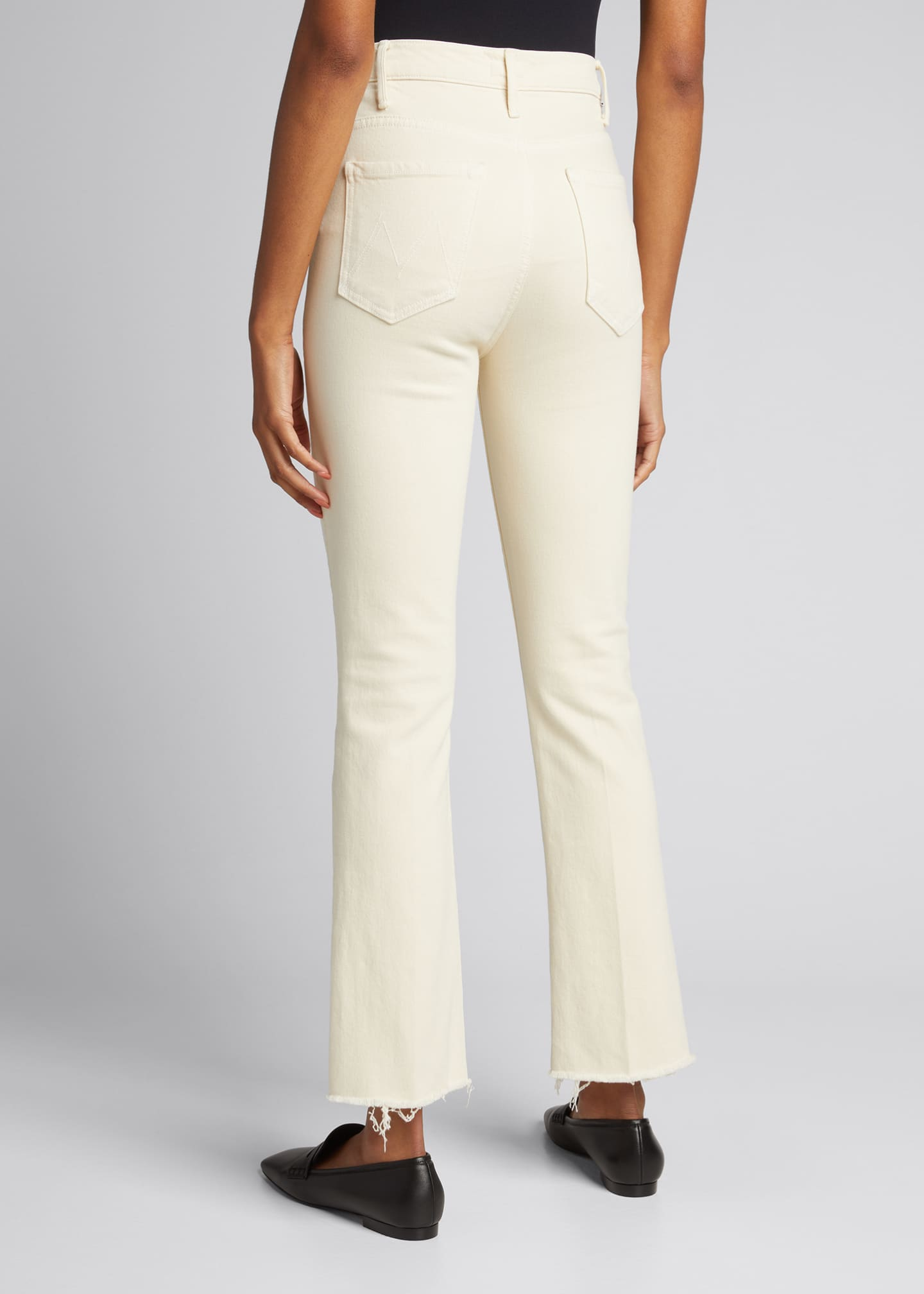 Image 2 of 5: The Hustler Ankle Fray Bootcut Jeans, White