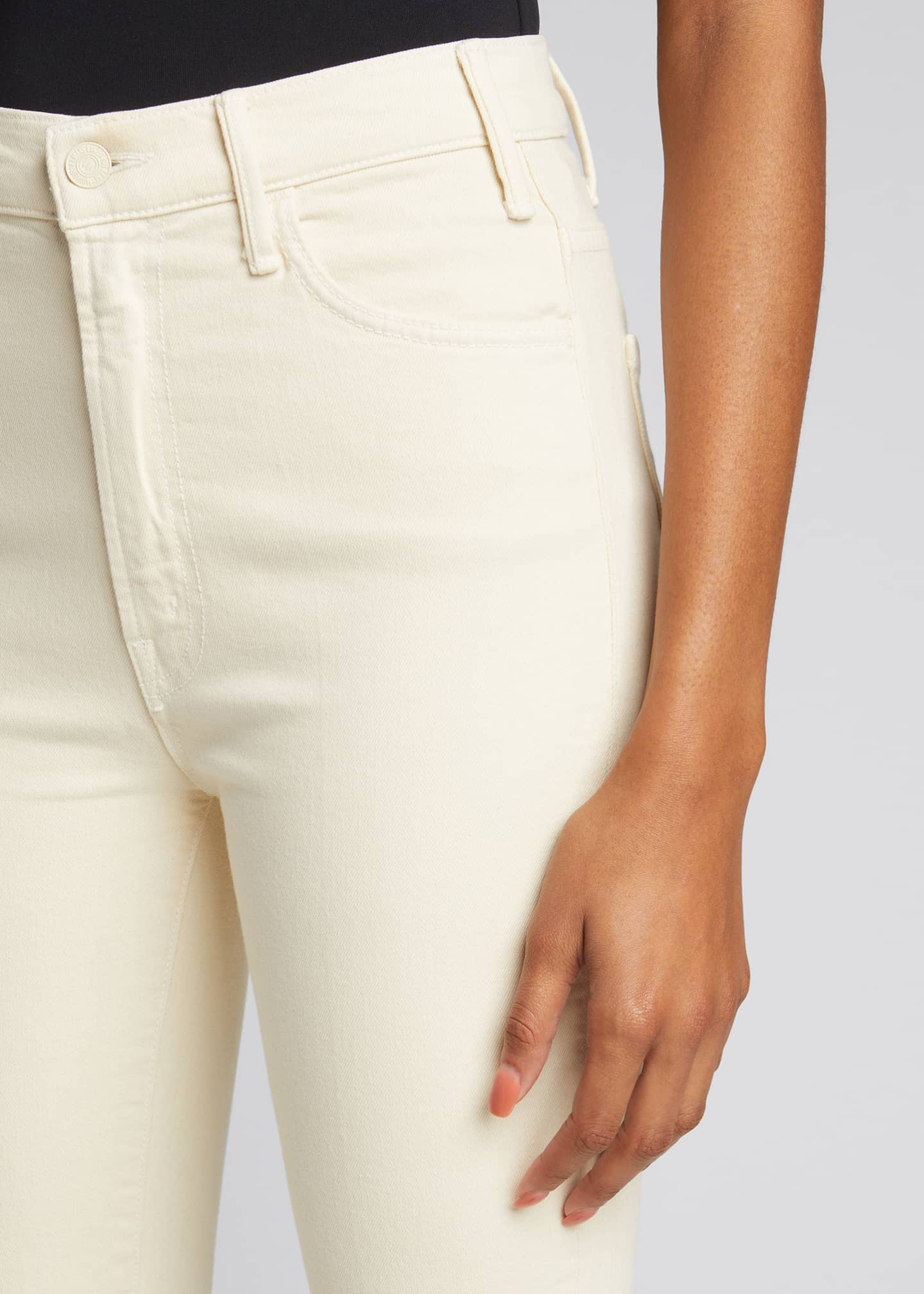 Image 4 of 5: The Hustler Ankle Fray Bootcut Jeans, White