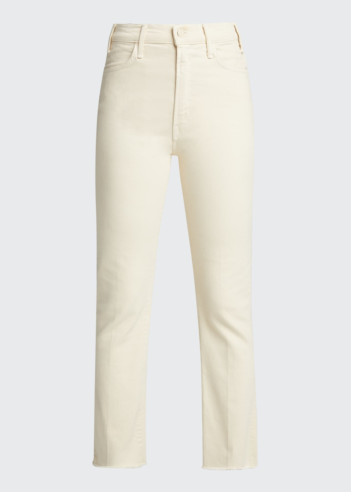 Image 5 of 5: The Hustler Ankle Fray Bootcut Jeans, White