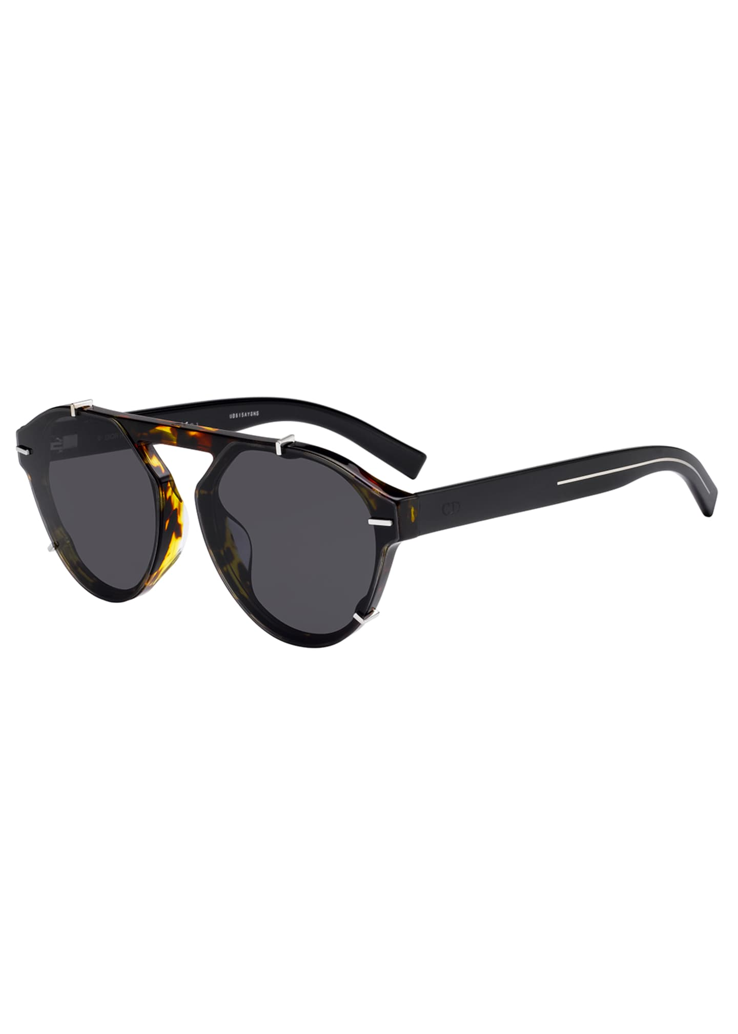 Image 1 of 1: Men's BLACK254FS Round Sunglasses