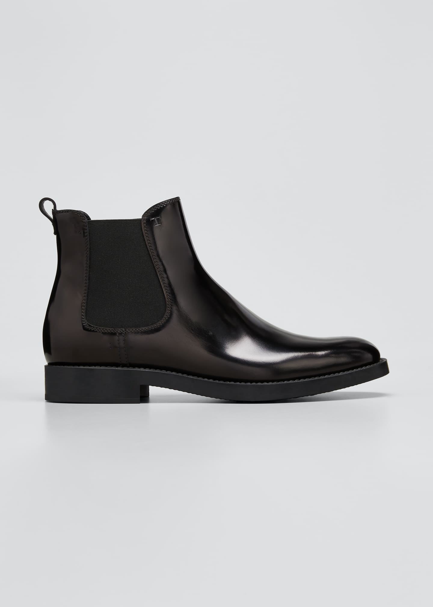 Image 1 of 5: Gored Leather Chelsea Ankle Booties