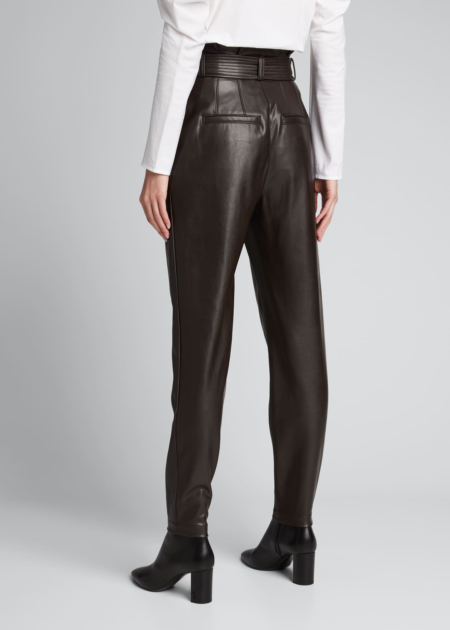 Image 2 of 5: Cobey Faux-Leather Belted Pants