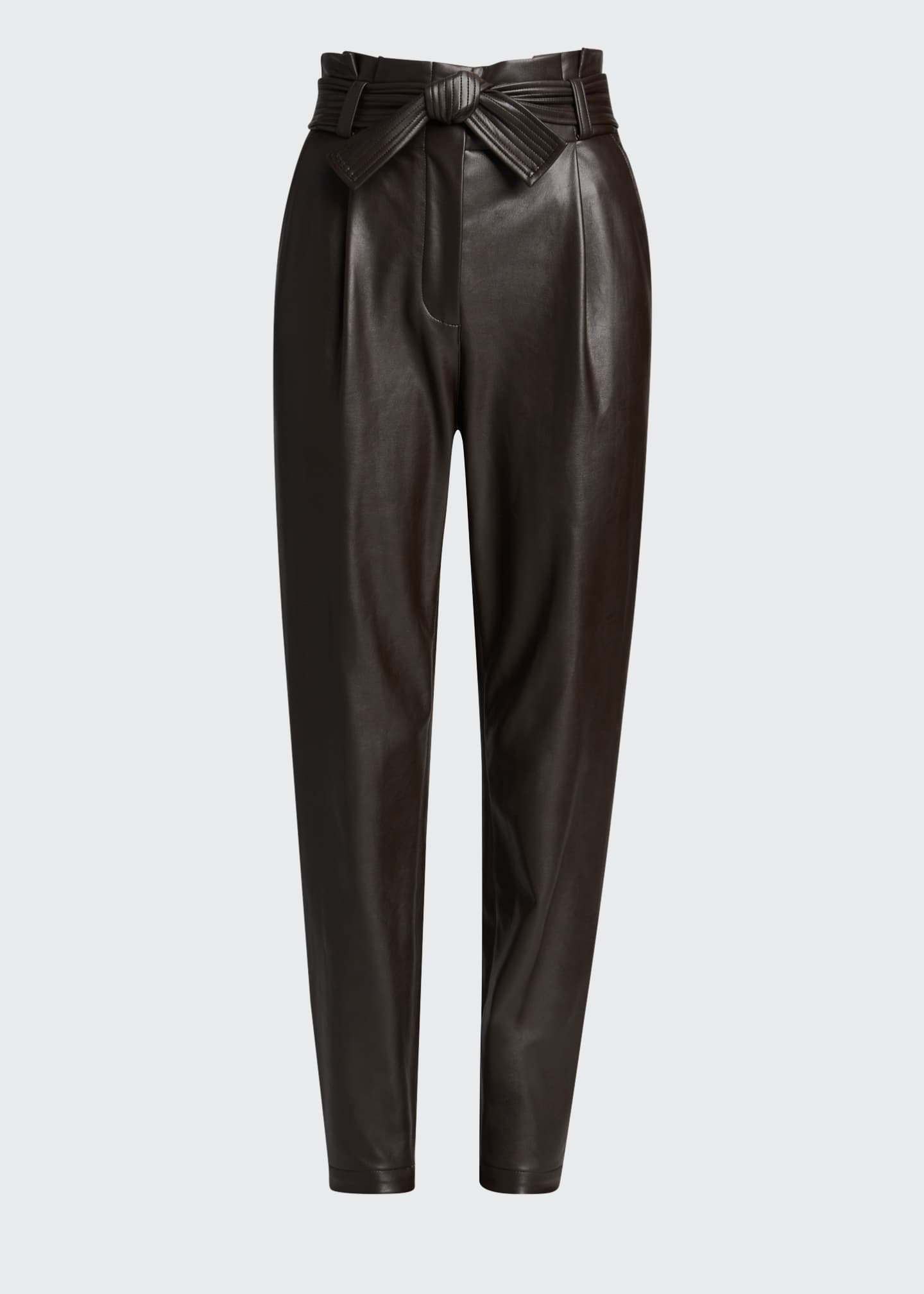 Image 5 of 5: Cobey Faux-Leather Belted Pants