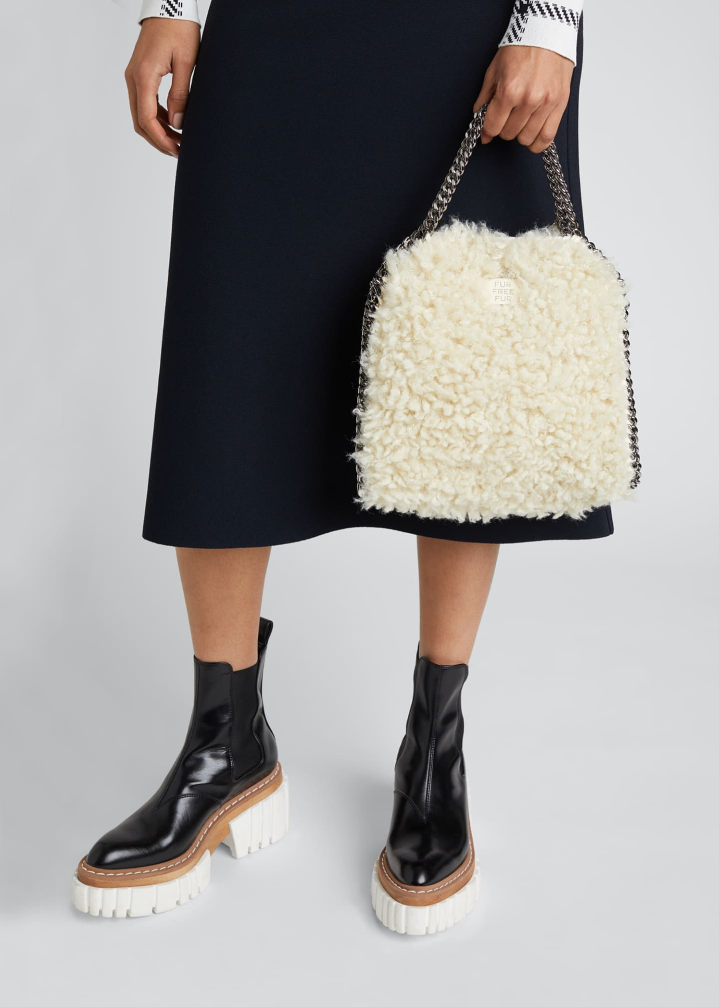 Image 2 of 4: Falabella Mini Furry Tote Bag