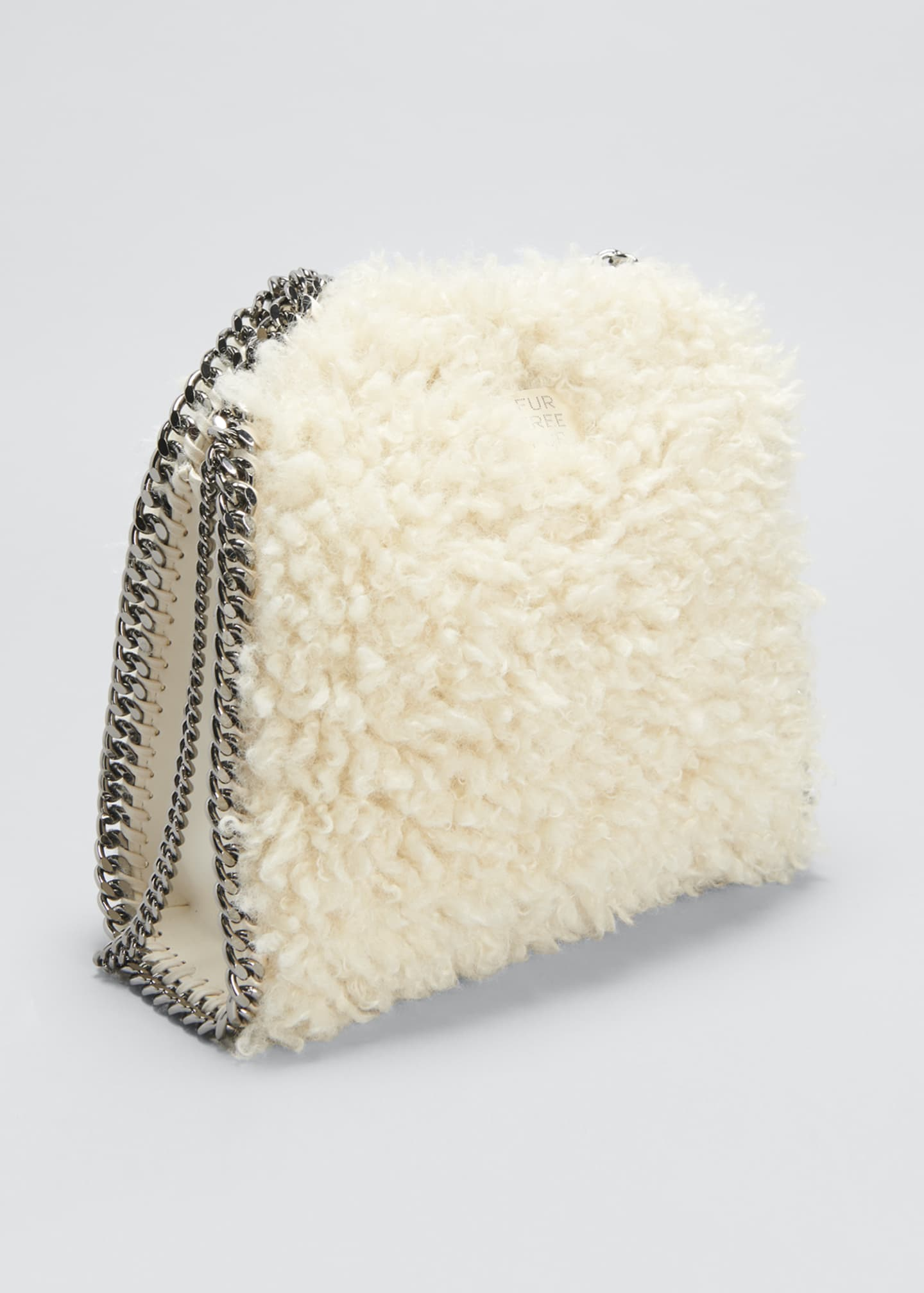 Image 3 of 4: Falabella Mini Furry Tote Bag