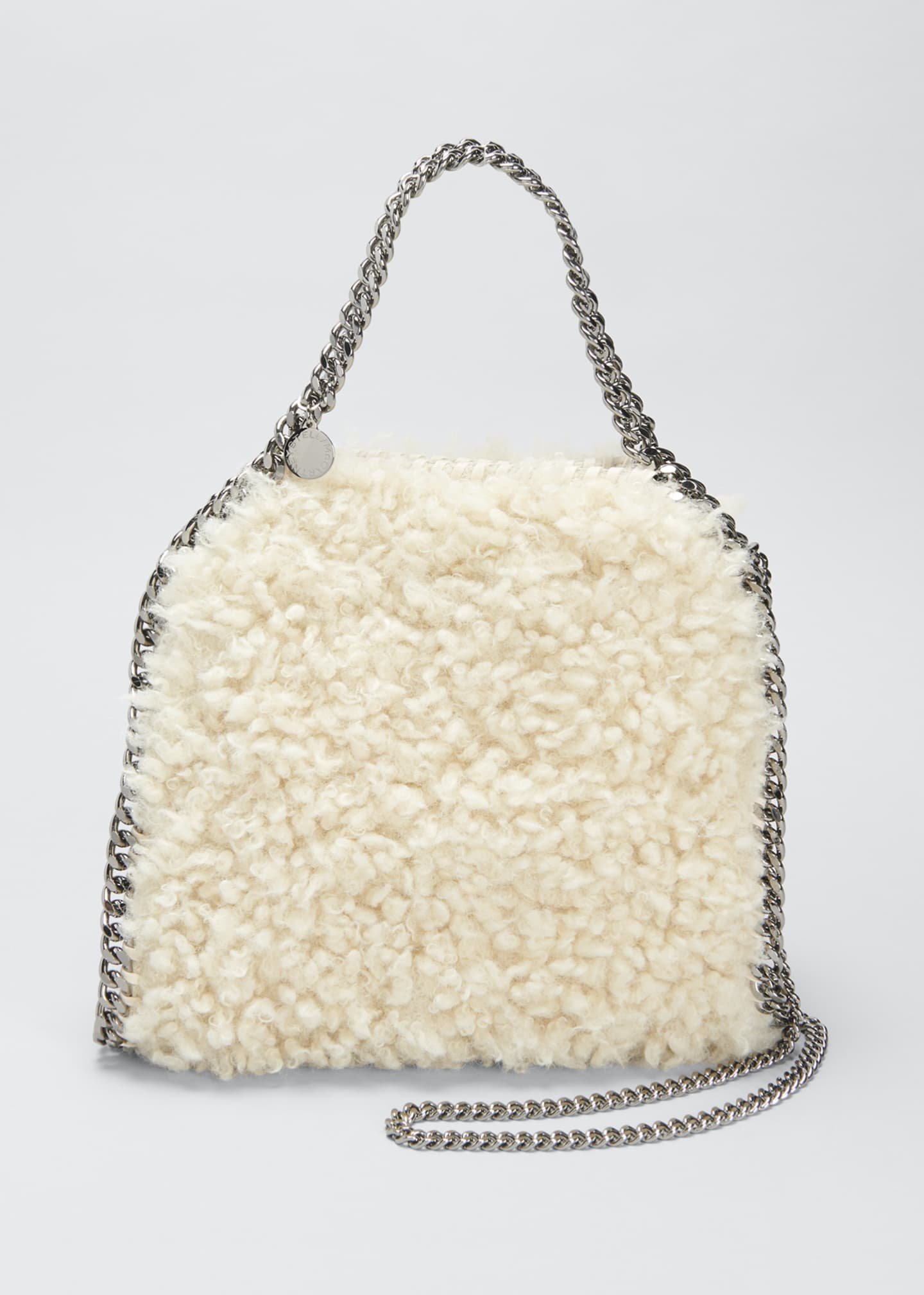 Image 1 of 4: Falabella Mini Furry Tote Bag
