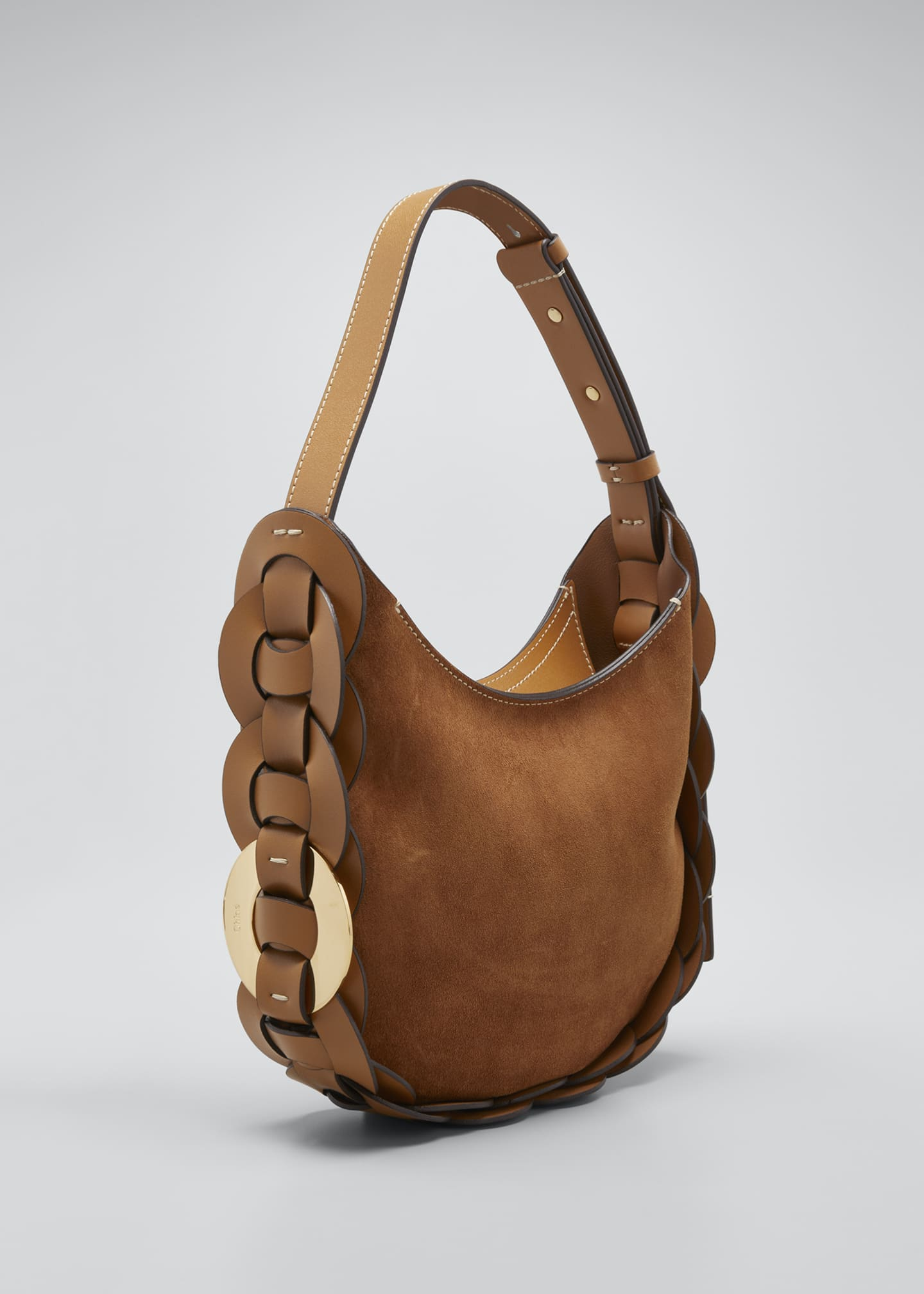 Image 2 of 3: Darryl Small Suede Hobo Bag