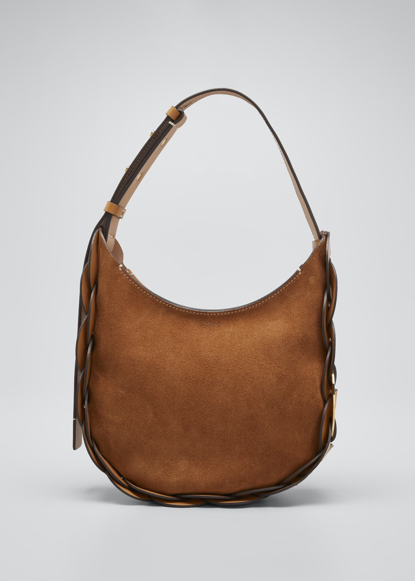 Image 1 of 3: Darryl Small Suede Hobo Bag