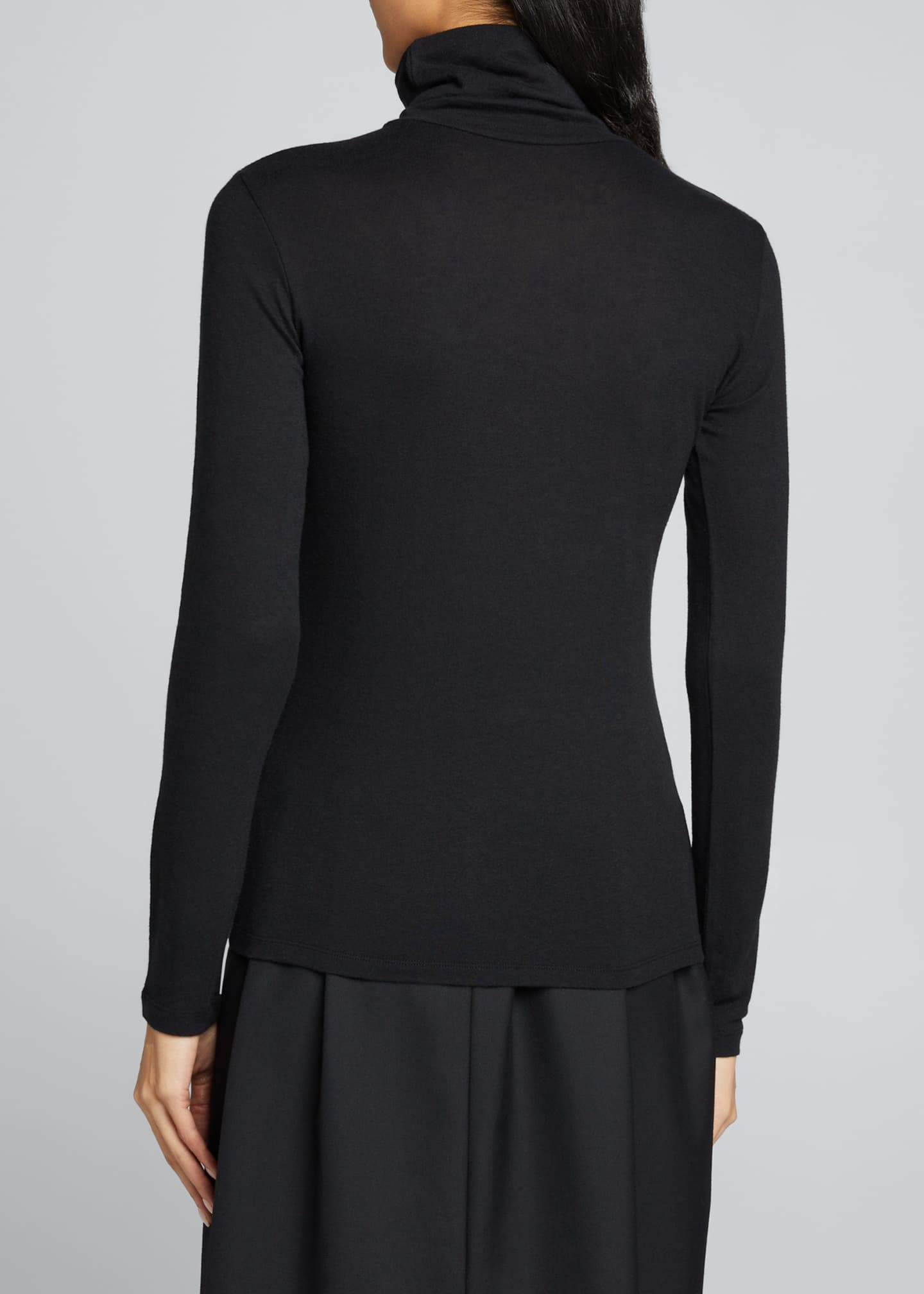 Image 2 of 5: Cotton-Cashmere Long Sleeve Turtleneck Top