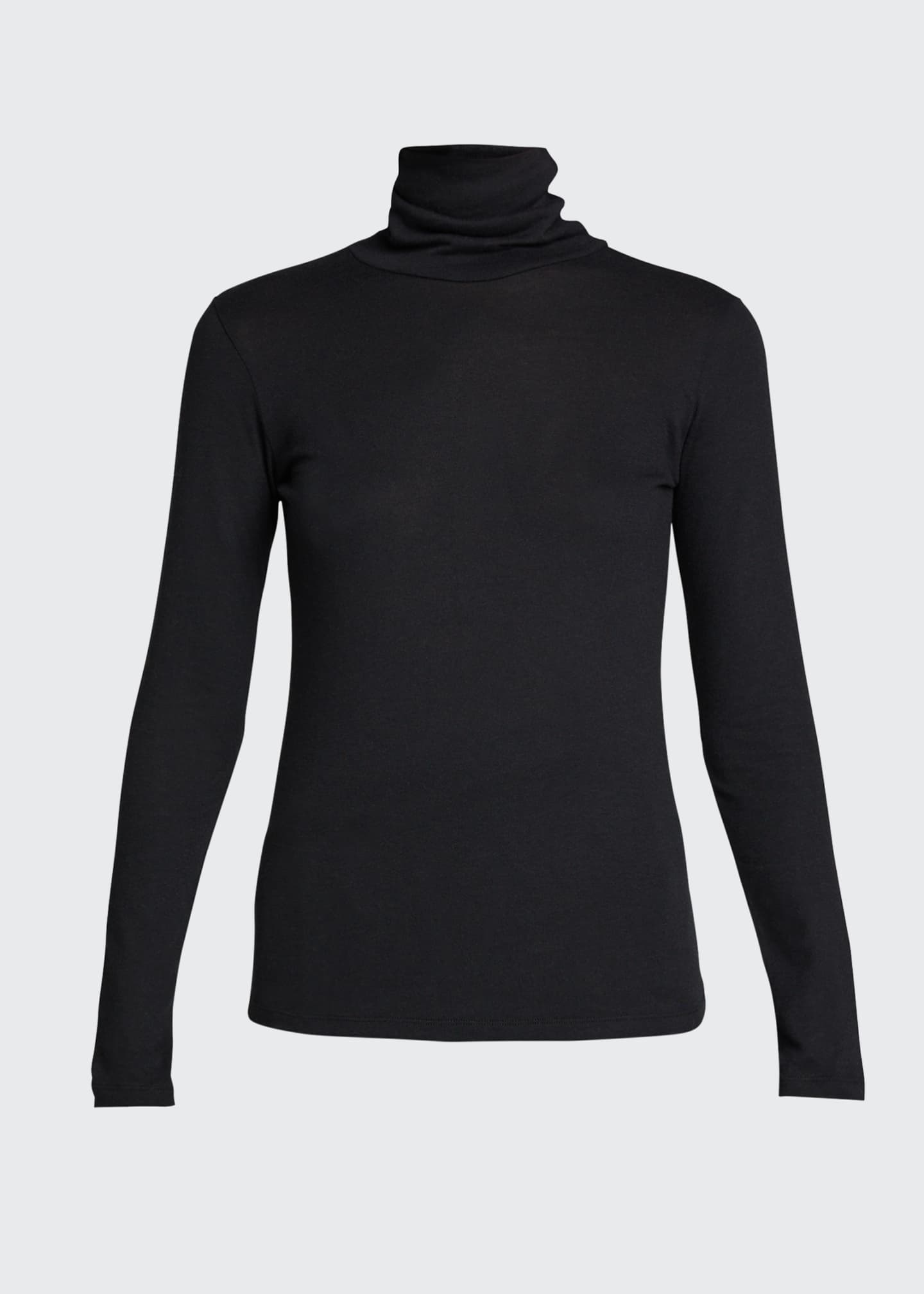 Image 5 of 5: Cotton-Cashmere Long Sleeve Turtleneck Top