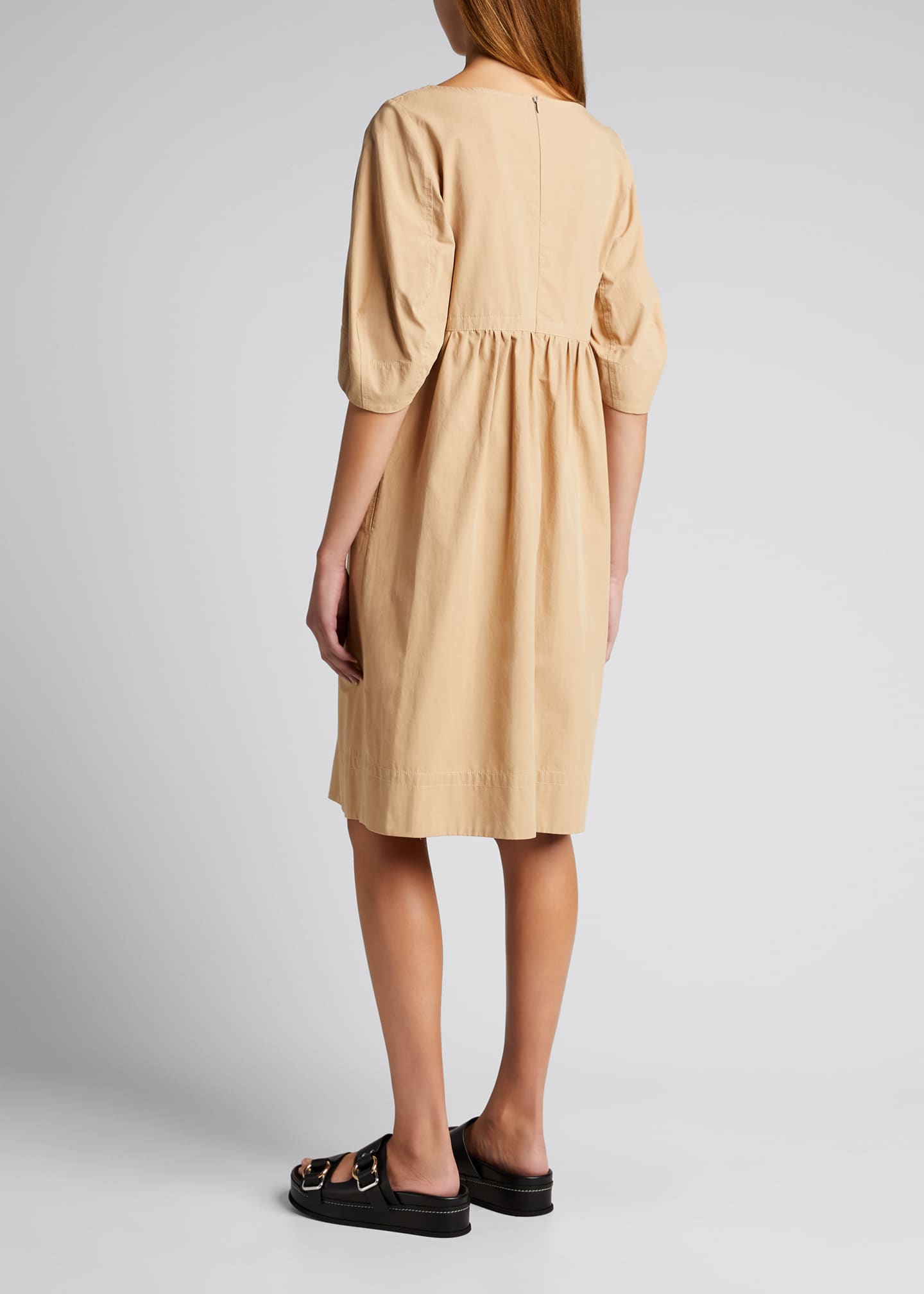 Image 2 of 5: May Cocoon-Sleeve Mini Dress