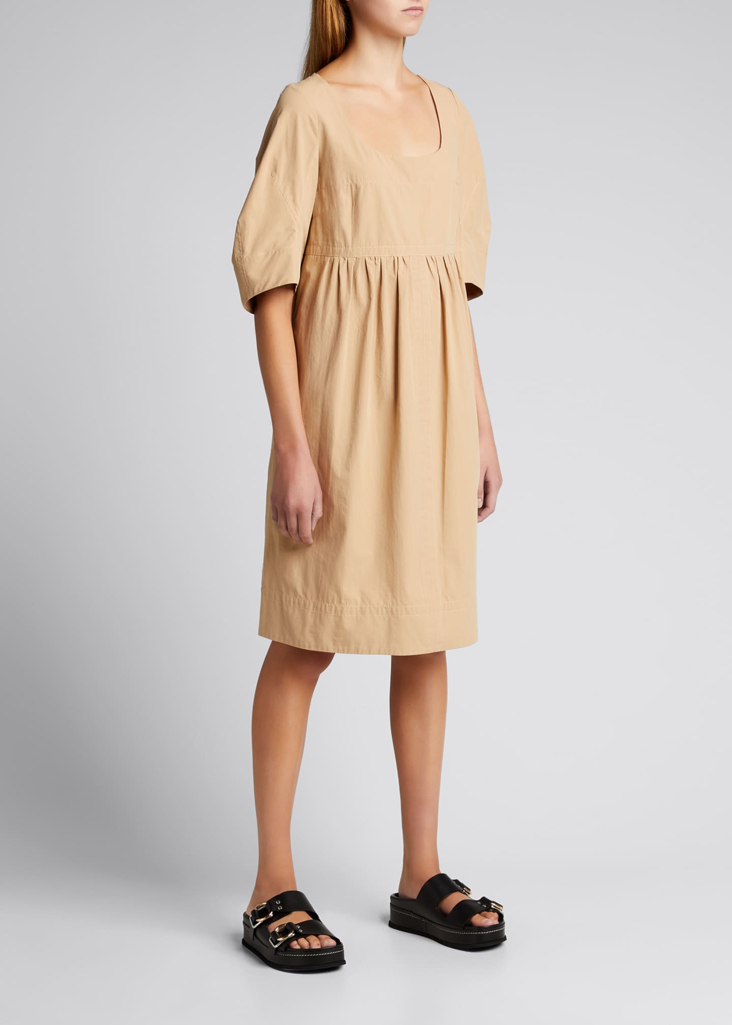 Image 3 of 5: May Cocoon-Sleeve Mini Dress