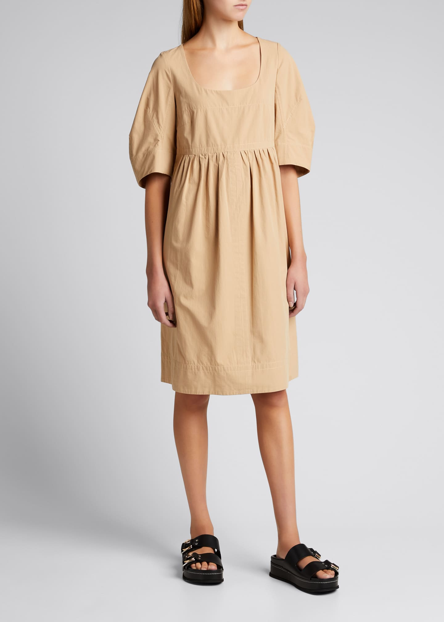 Image 1 of 5: May Cocoon-Sleeve Mini Dress