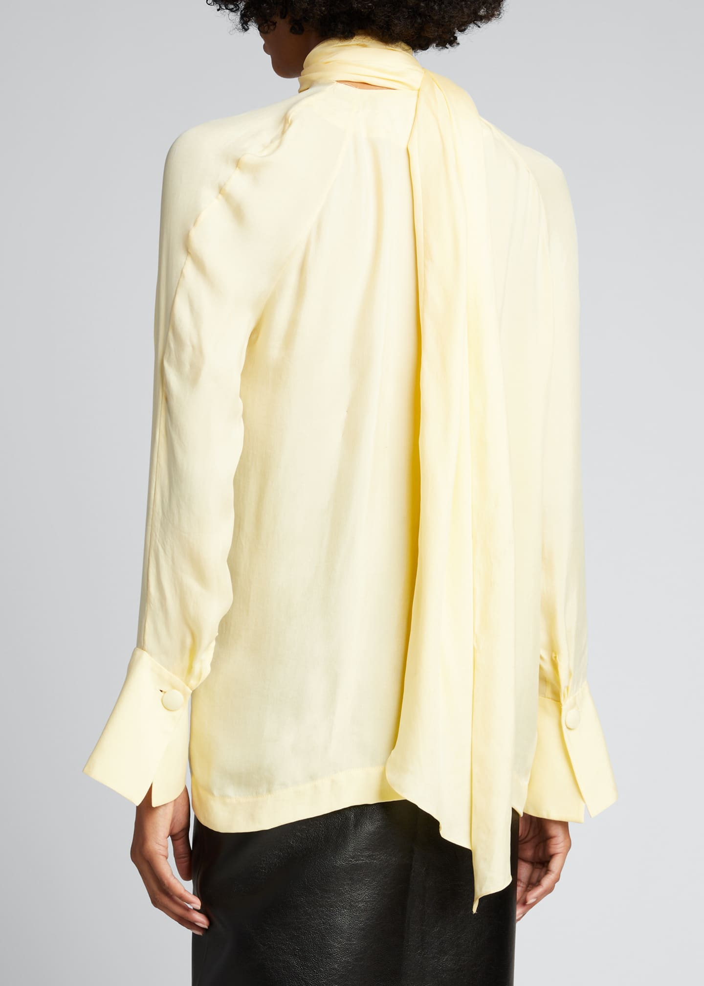Image 2 of 5: Long-Sleeve Scarf Blouse