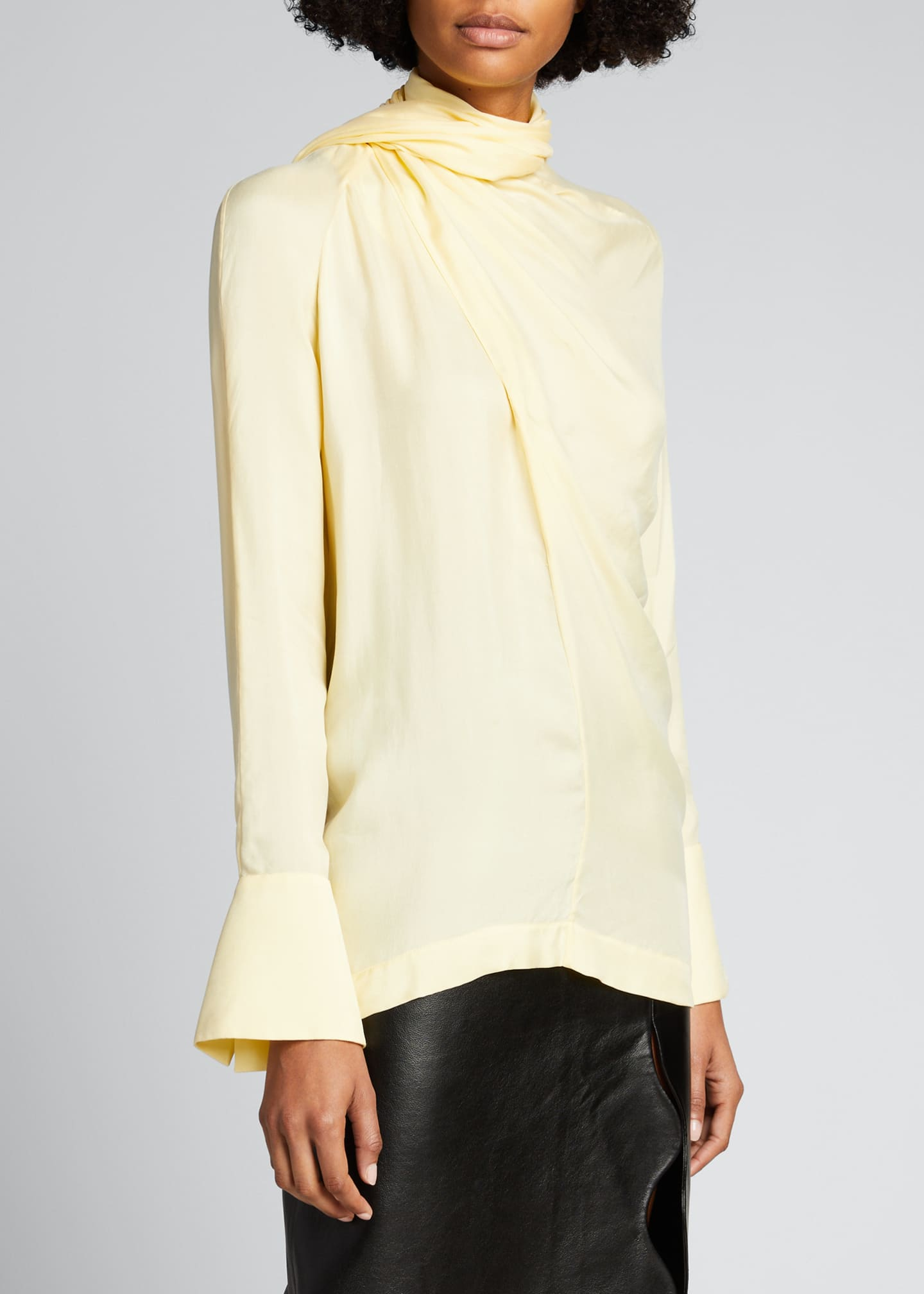 Image 3 of 5: Long-Sleeve Scarf Blouse