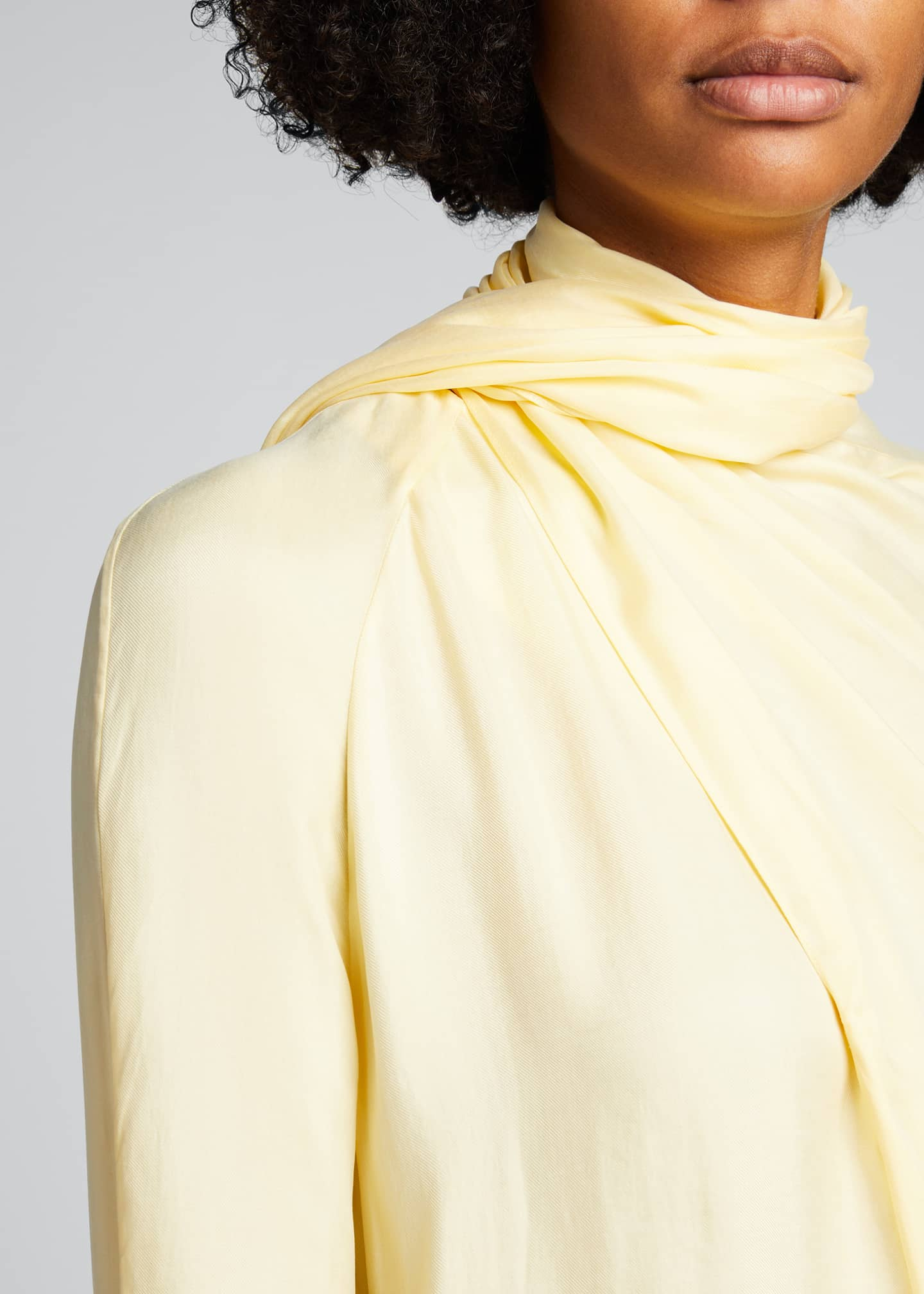 Image 4 of 5: Long-Sleeve Scarf Blouse