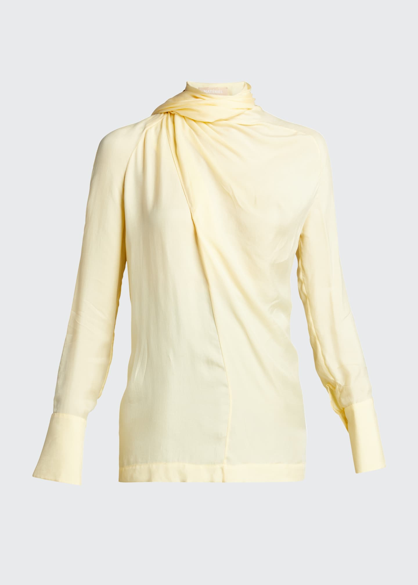 Image 5 of 5: Long-Sleeve Scarf Blouse