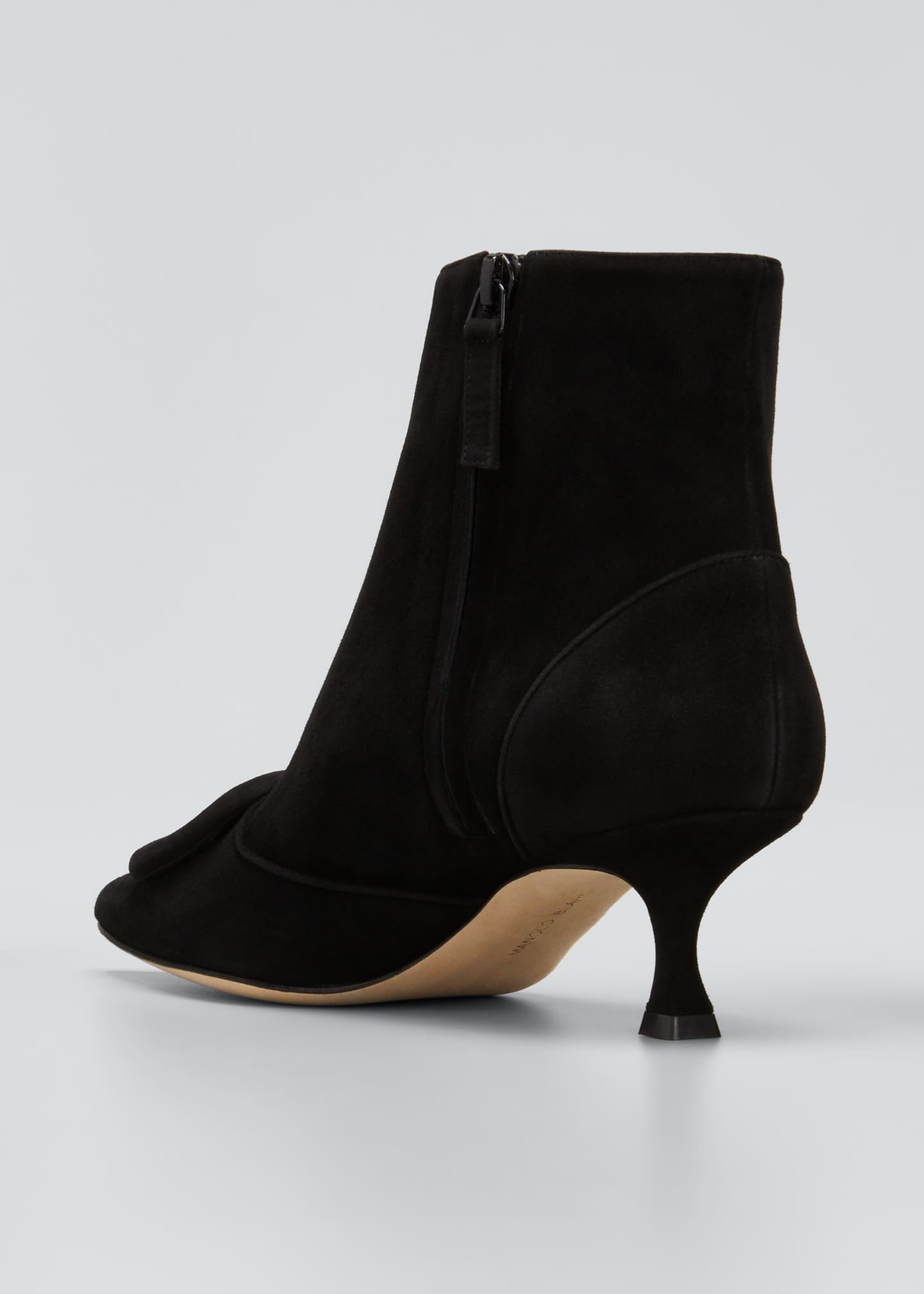 Image 2 of 3: Baylow Suede Buckle Ankle Booties