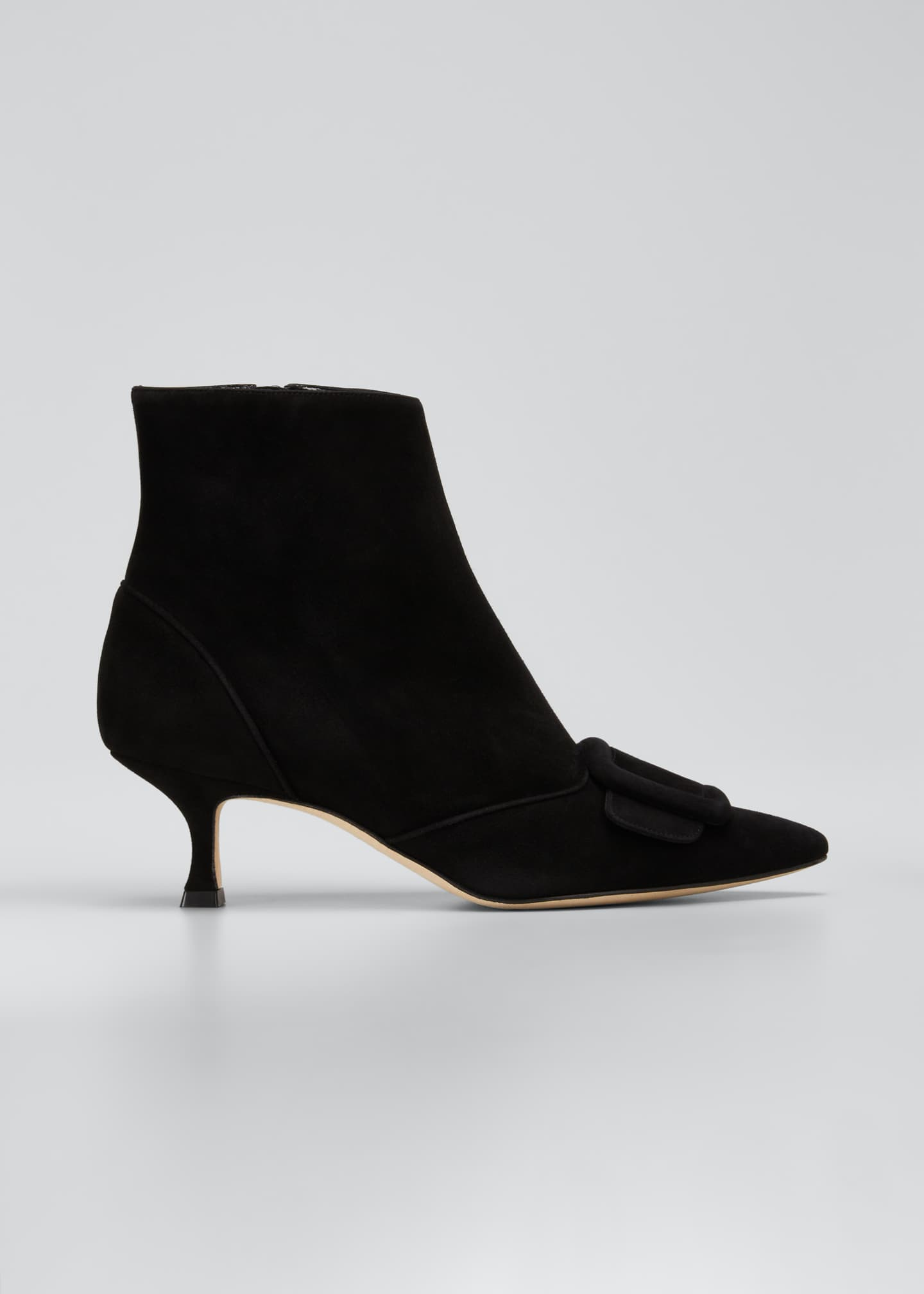 Image 1 of 3: Baylow Suede Buckle Ankle Booties