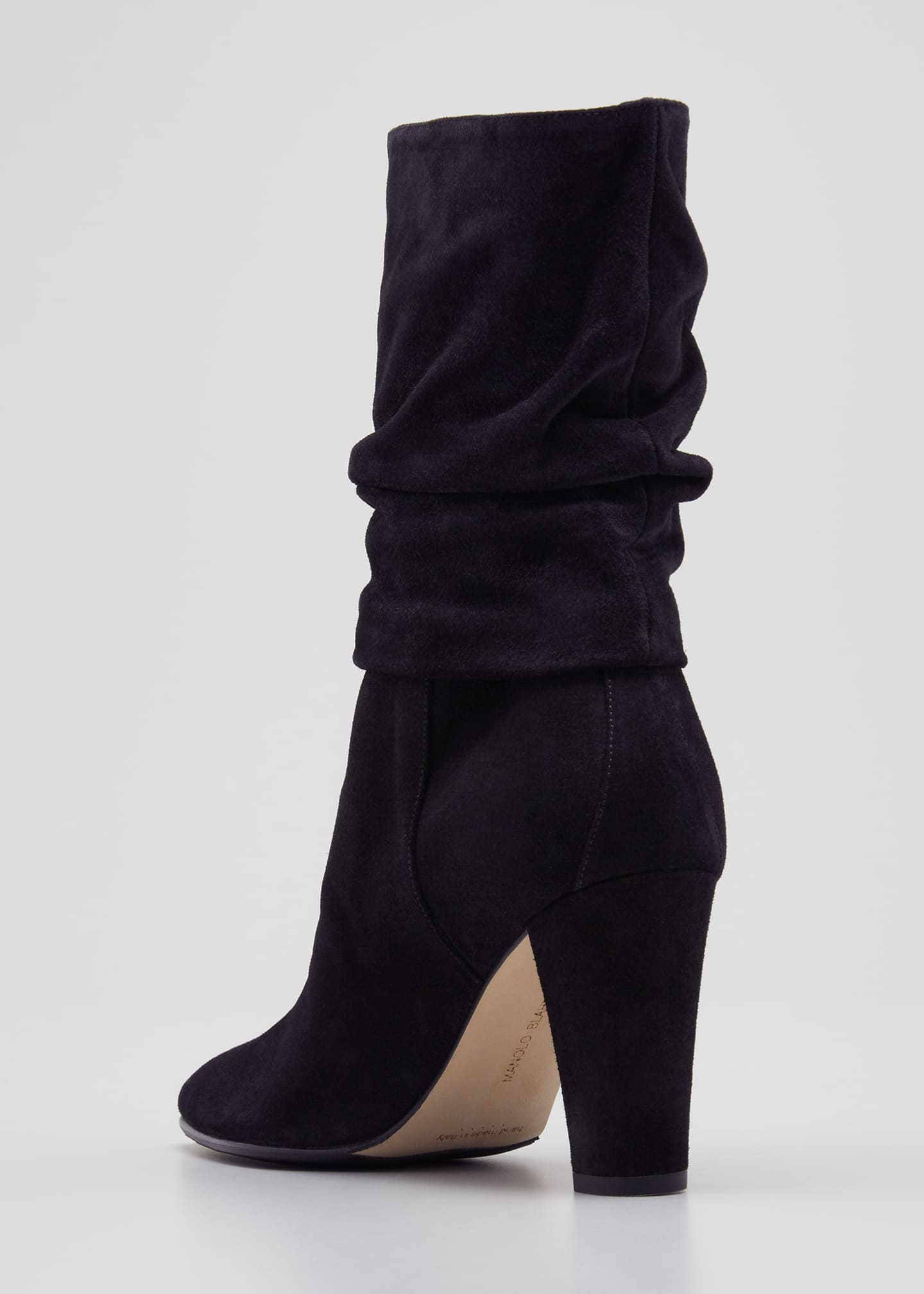 Image 2 of 3: Shushan 90mm Suede Scrunch Boots