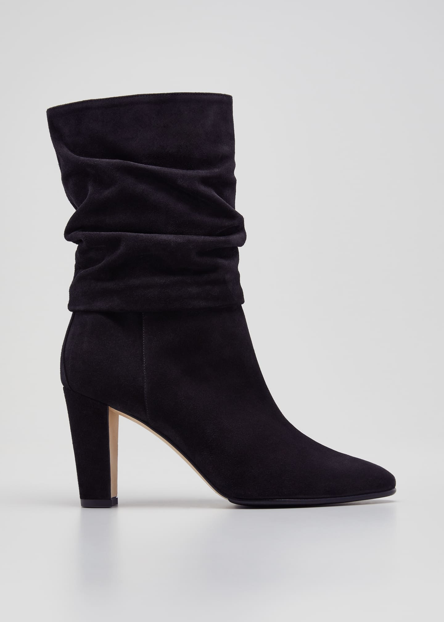 Image 1 of 3: Shushan 90mm Suede Scrunch Boots