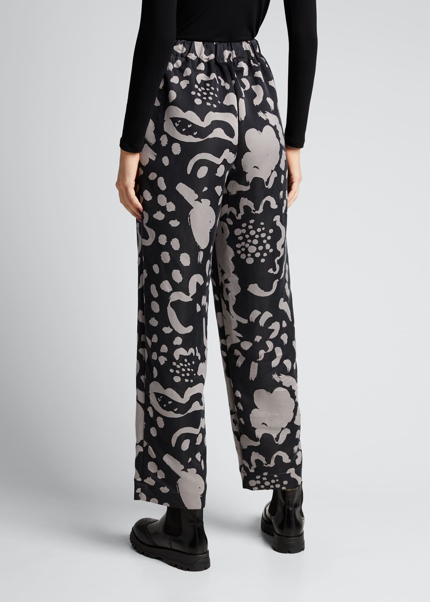 Image 2 of 5: Mist Pattern Straight-Leg Pants