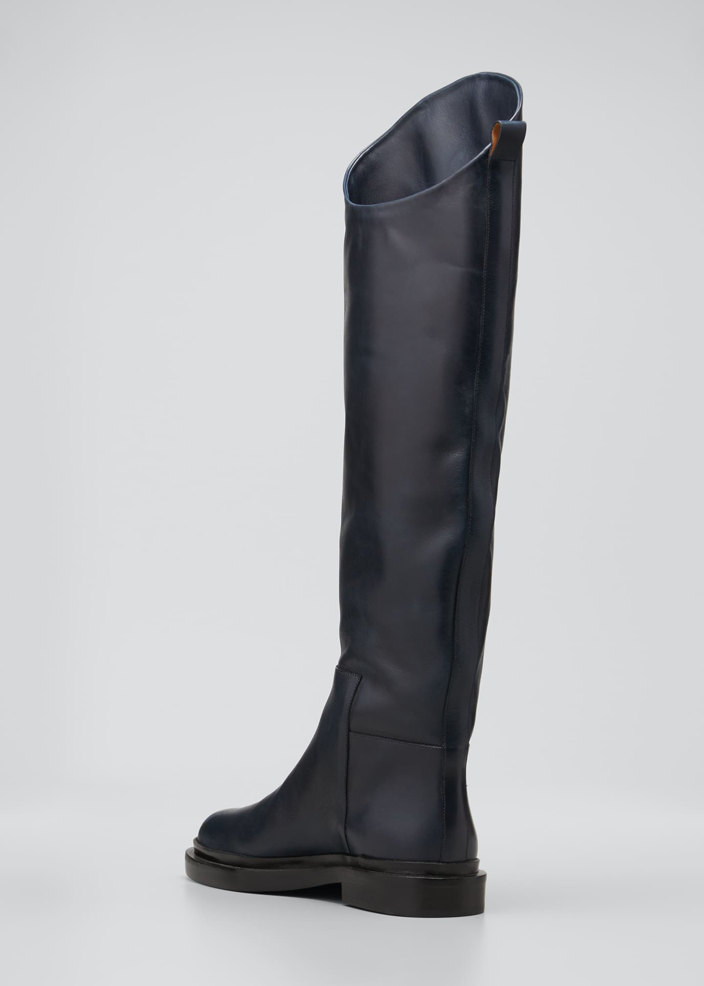 Image 2 of 3: Asymmetrical Leather Riding Boots