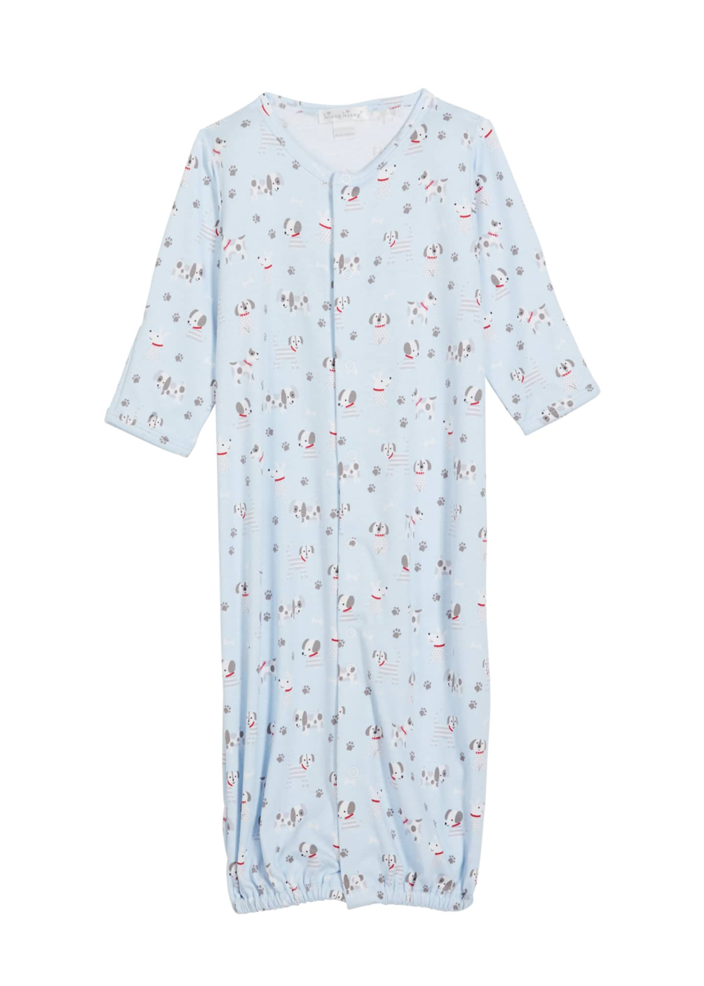 Image 1 of 1: Boy's Puppy Posse Printed Sleep Gown, Size Newborn-S