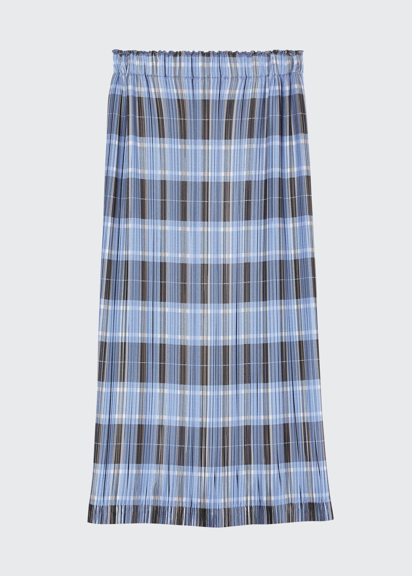 Image 5 of 5: Allover Plisse Pleated Check Pencil Skirt